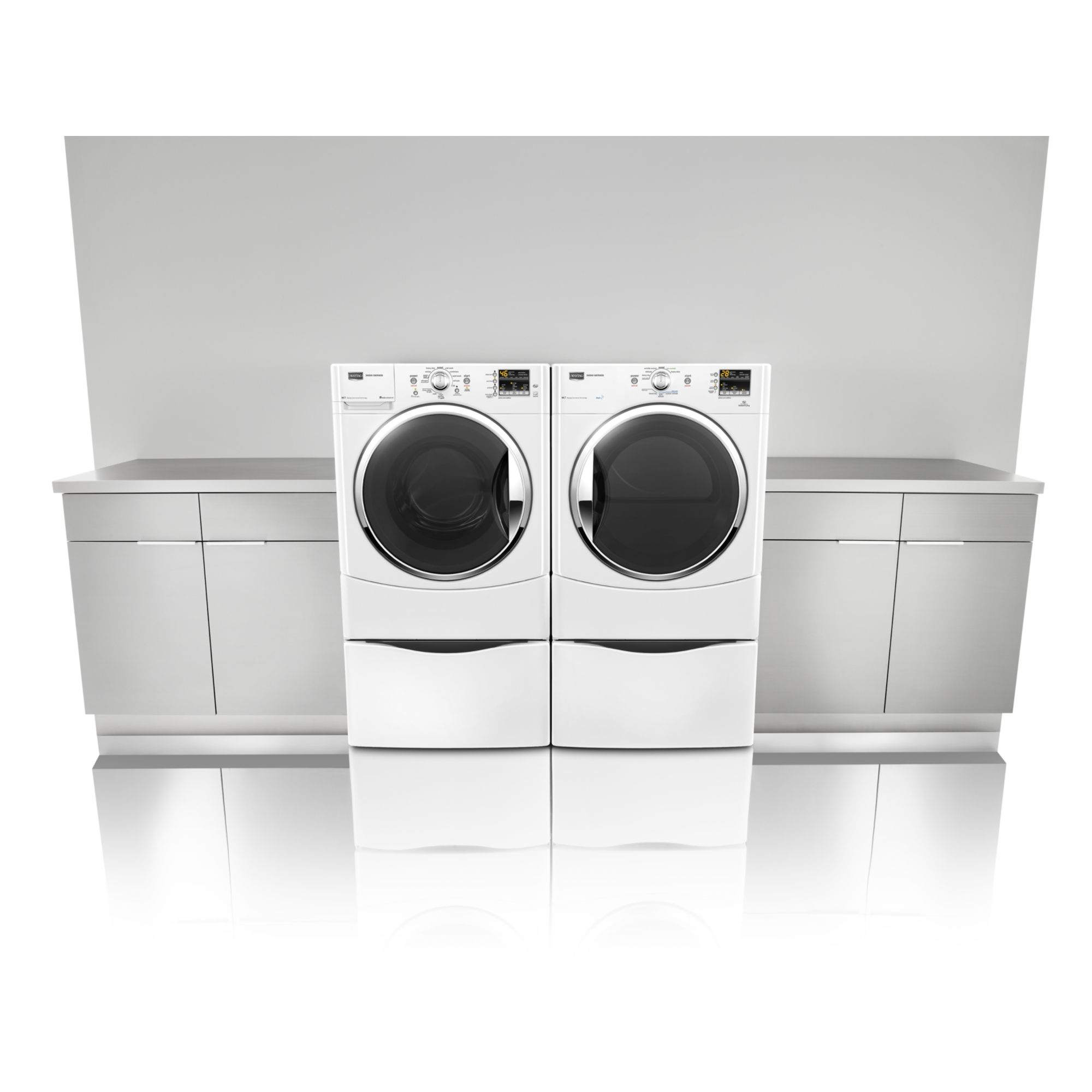 Maytag 6.7 cu. ft. Steam Gas Dryer  -  White