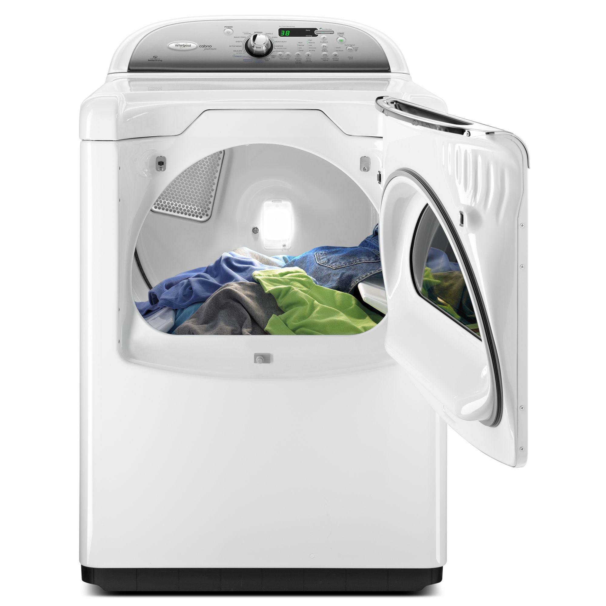 Whirlpool 7.6 cu. ft. Cabrio® Platinum Steam Gas Dryer w/ Static Reduce - White