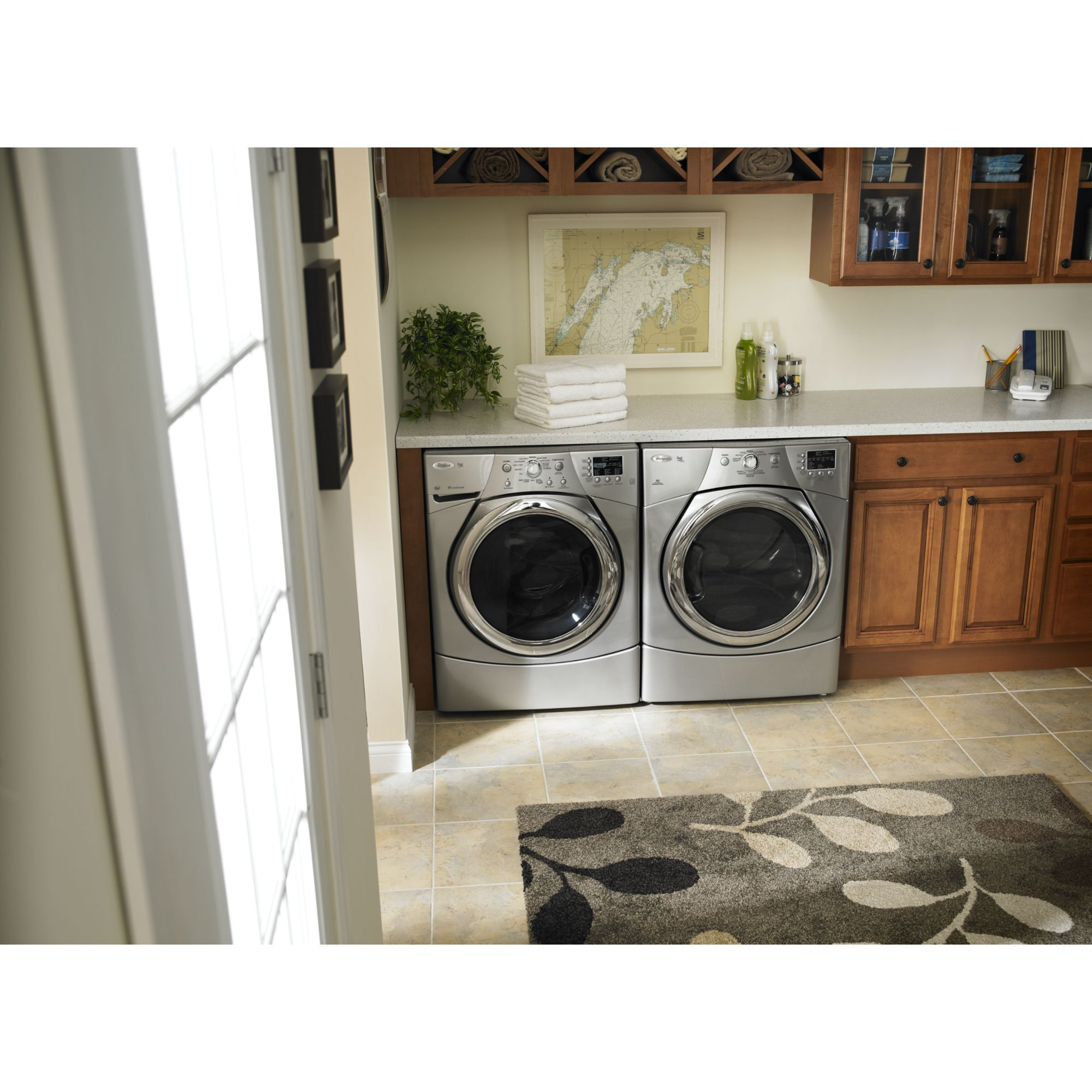 Whirlpool 6.7 cu. ft. Gas Dryer w/ Quick Refresh Steam Cycle - Gray