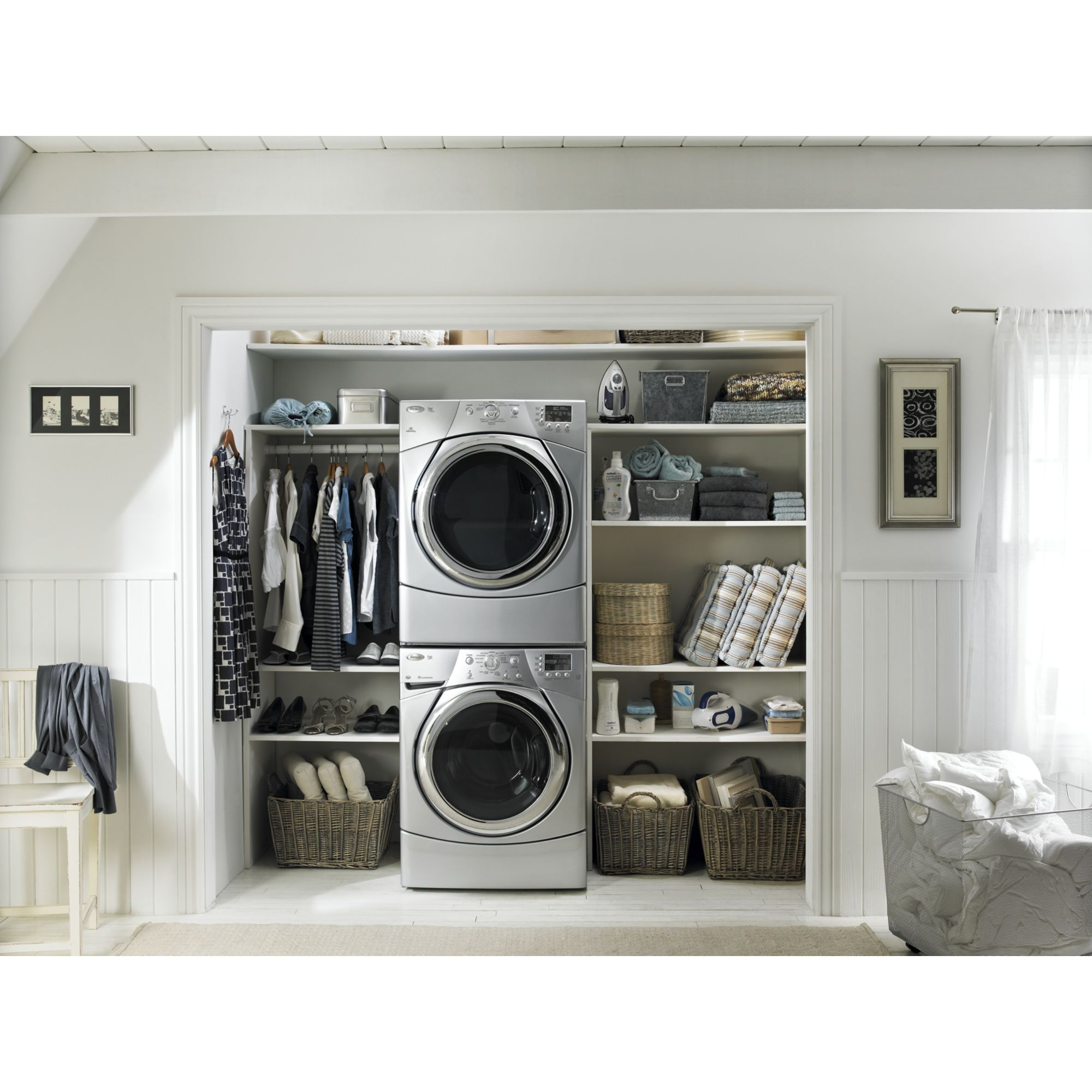 Whirlpool 6.7 cu. ft. Electric Dryer w/ Quick Refresh Steam Cycle - Gray