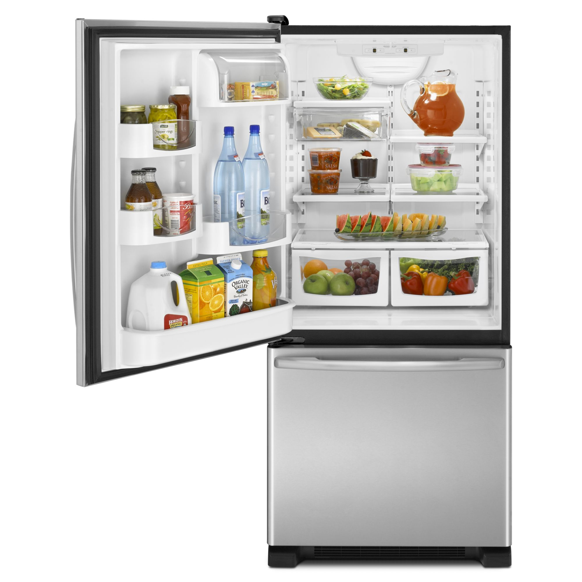 Maytag 21.9 cu. ft. Bottom-Freezer Refrigerator - Left Swing Door - Stainless Steel