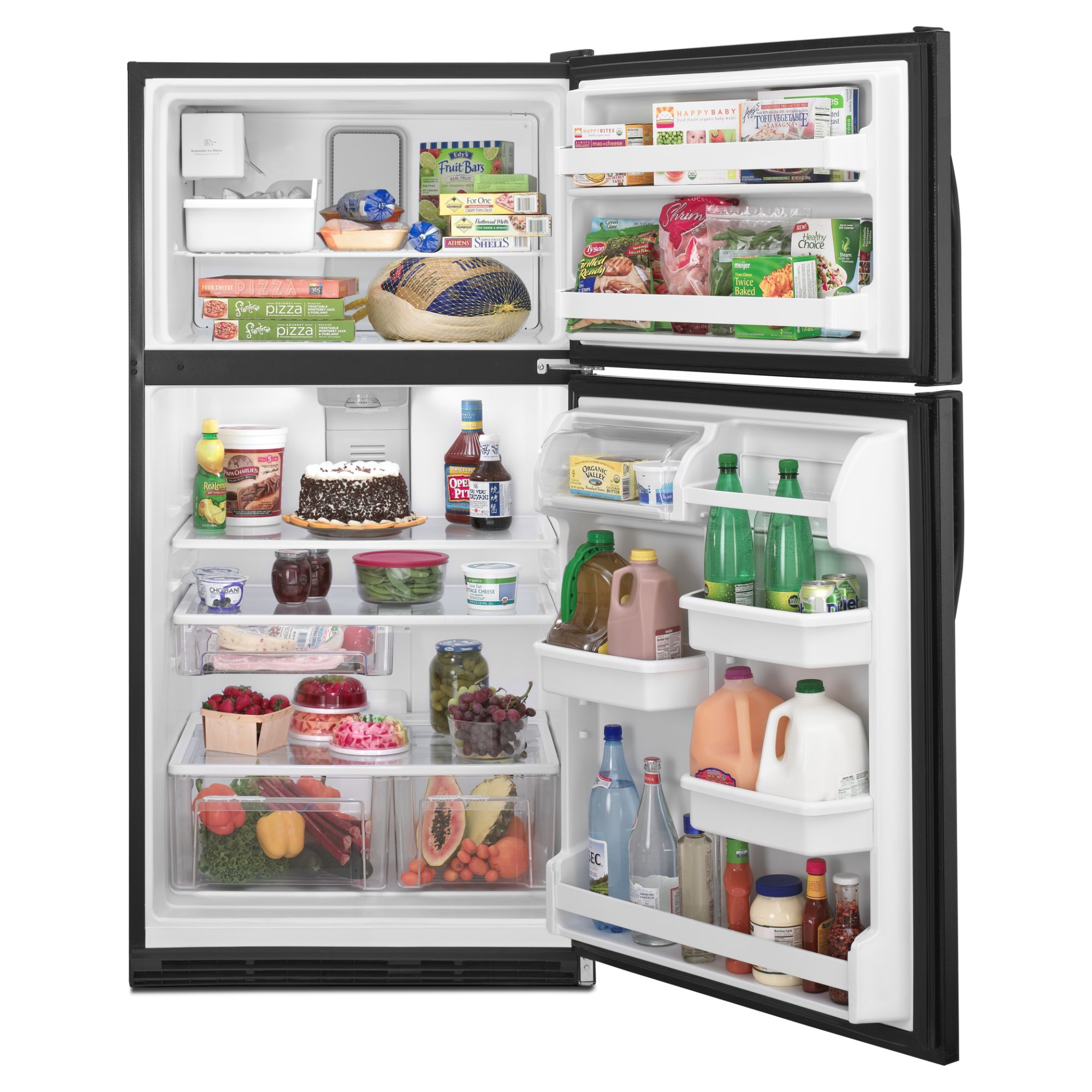 Maytag 20.6 cu. ft. Top-Freezer Refrigerator w/ FreshLock™ Crispers - Black