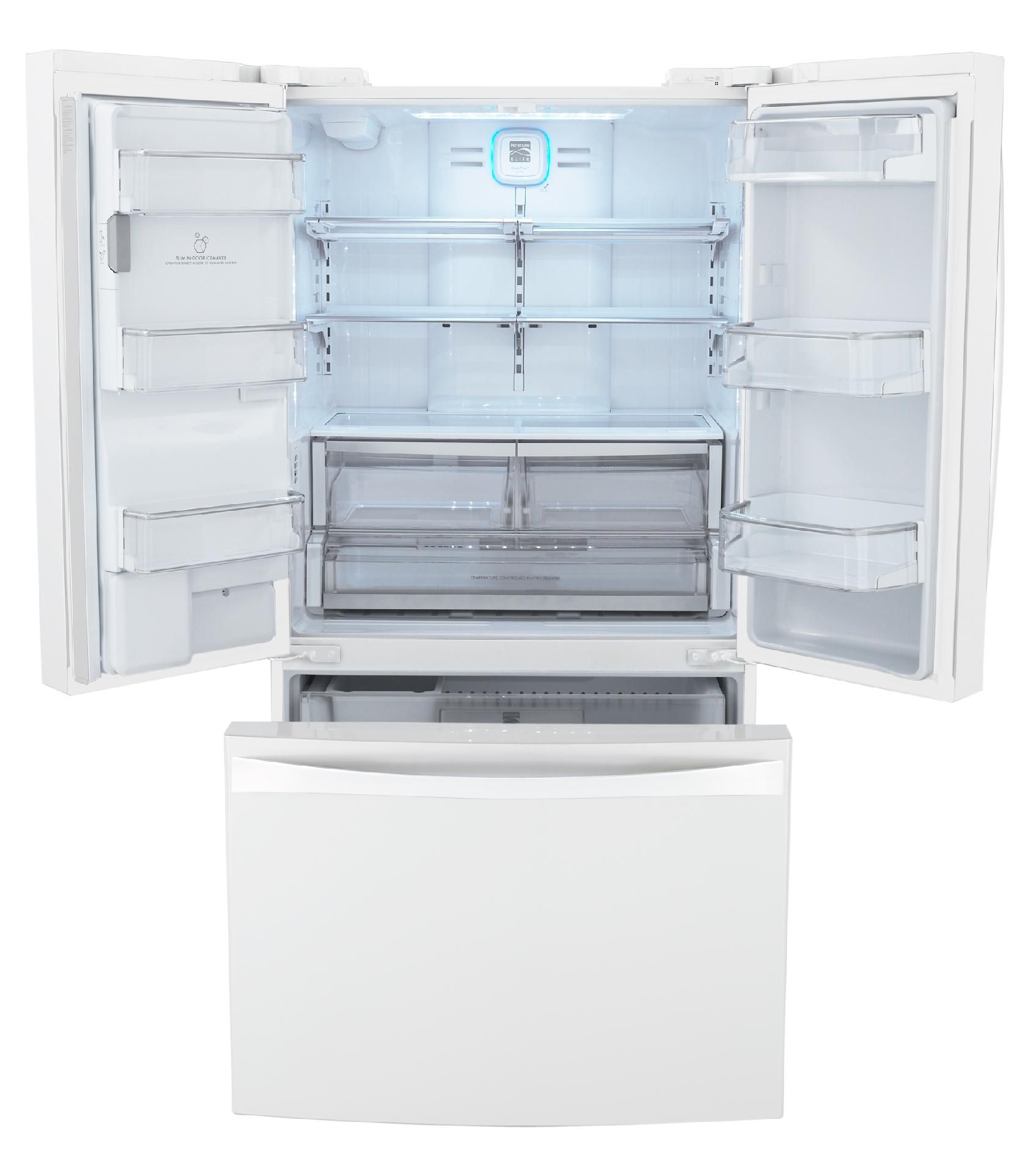 Kenmore Elite 25 cu. ft. French-Door Counter-Depth Bottom-Freezer Refrigerator -  White