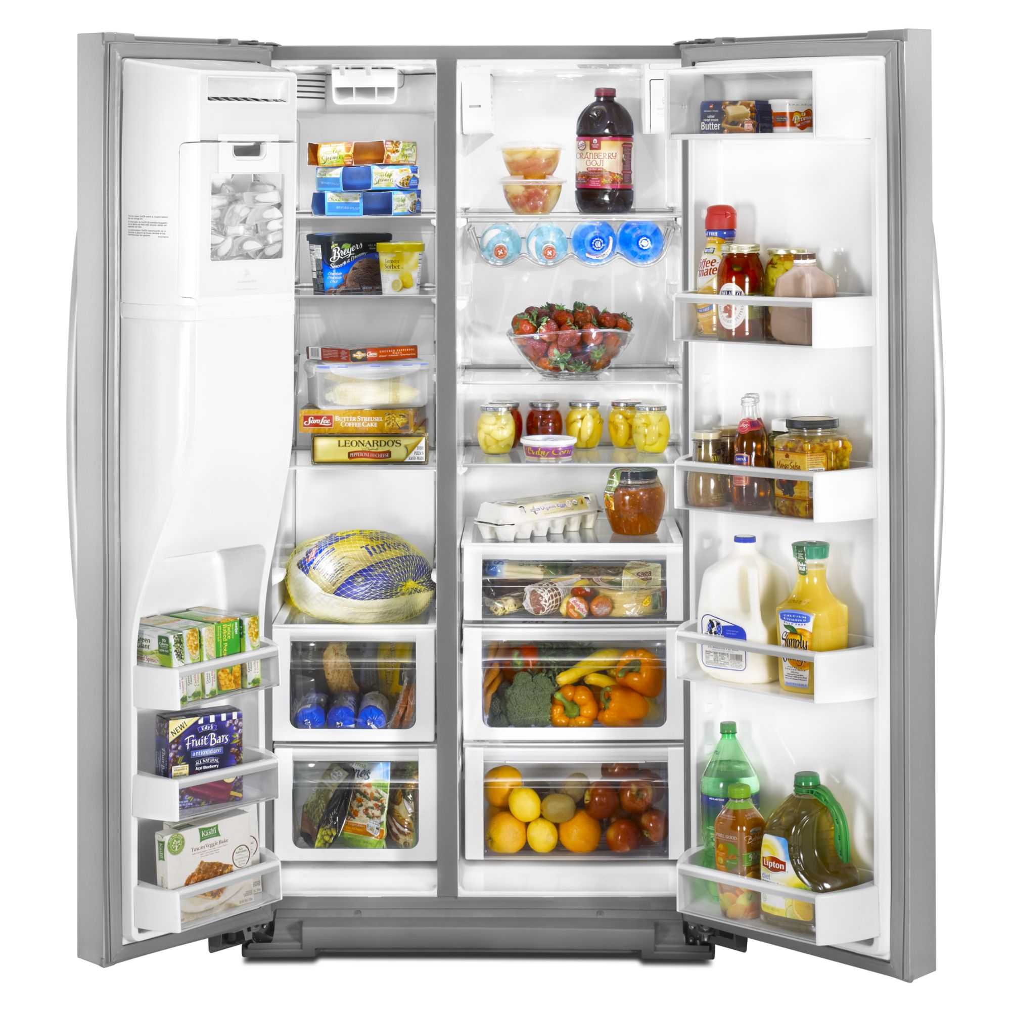 Whirlpool 24.5 cu. ft. Side-by-Side Refrigerator w/ In-Door-Ice® - Stainless Steel