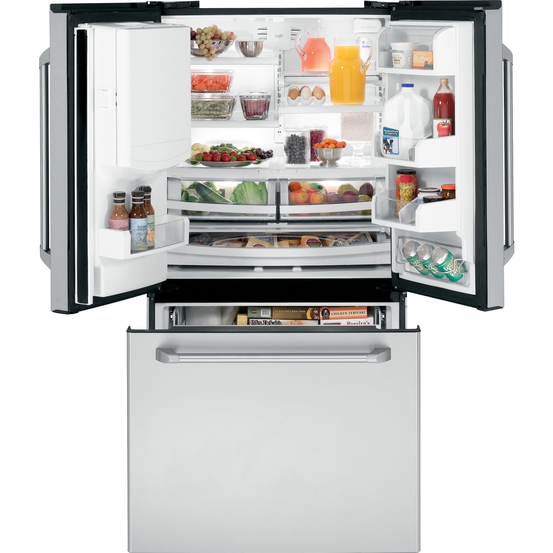 GE Café™ Series 21.3 cu. ft. Counter-Depth French Door Refrigerator - Stainless Steel