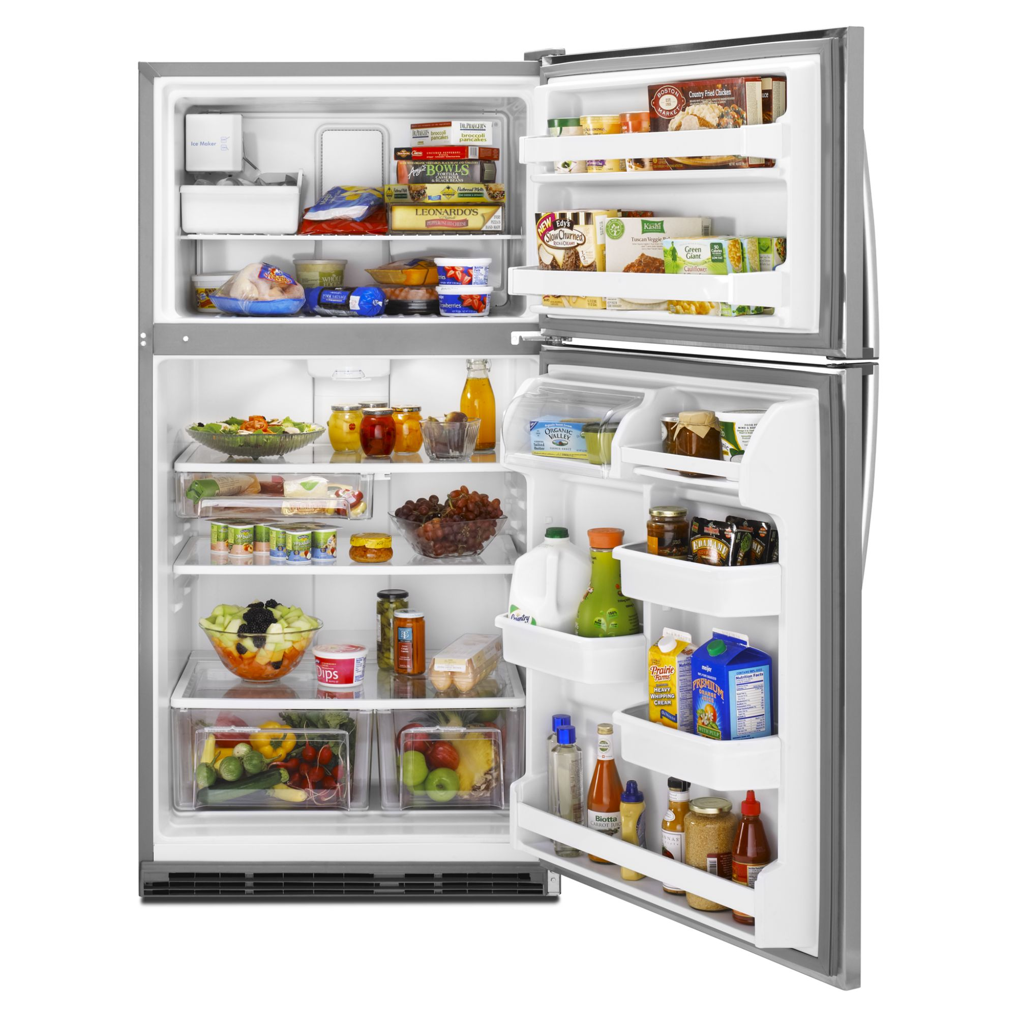 Kenmore 21.0 cu. ft. Top-Freezer Refrigerator w/ Ice Maker - Stainless Steel