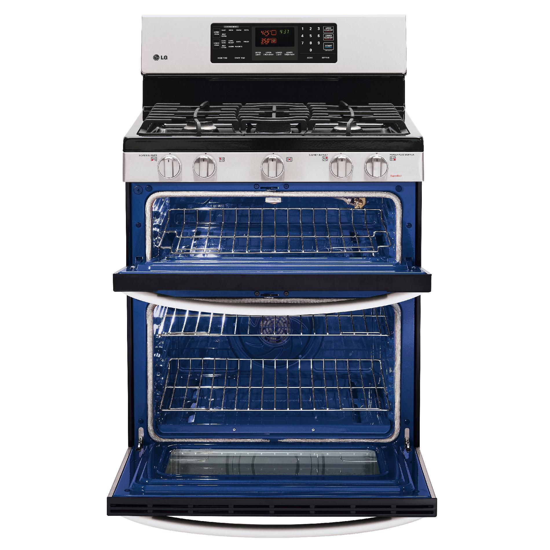 LG 10 cu. ft. Double-Oven Gas Range w/ Convection - Stainless Steel