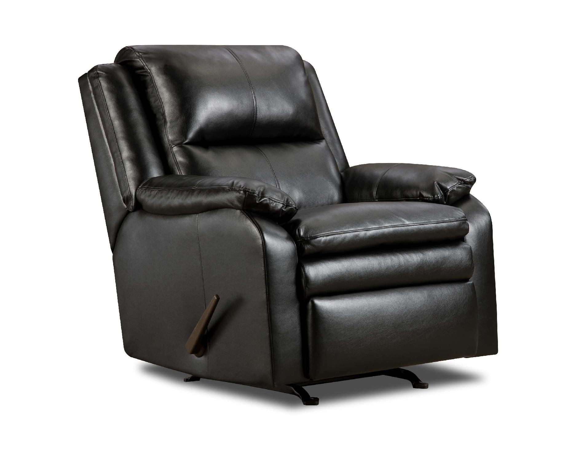 Simmons Baron Leather Rocker Recliner