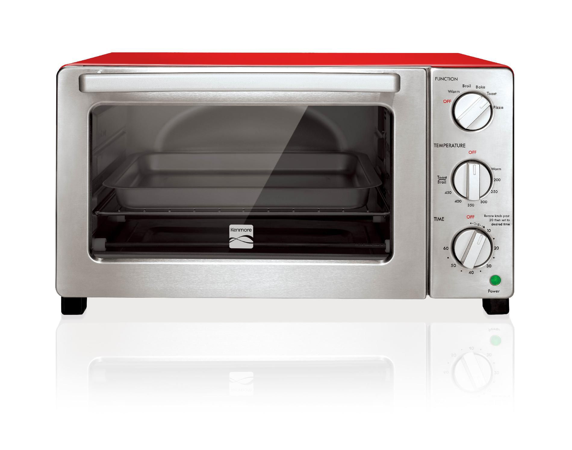 Kenmore 6-Slice Convection Toaster Oven  Red