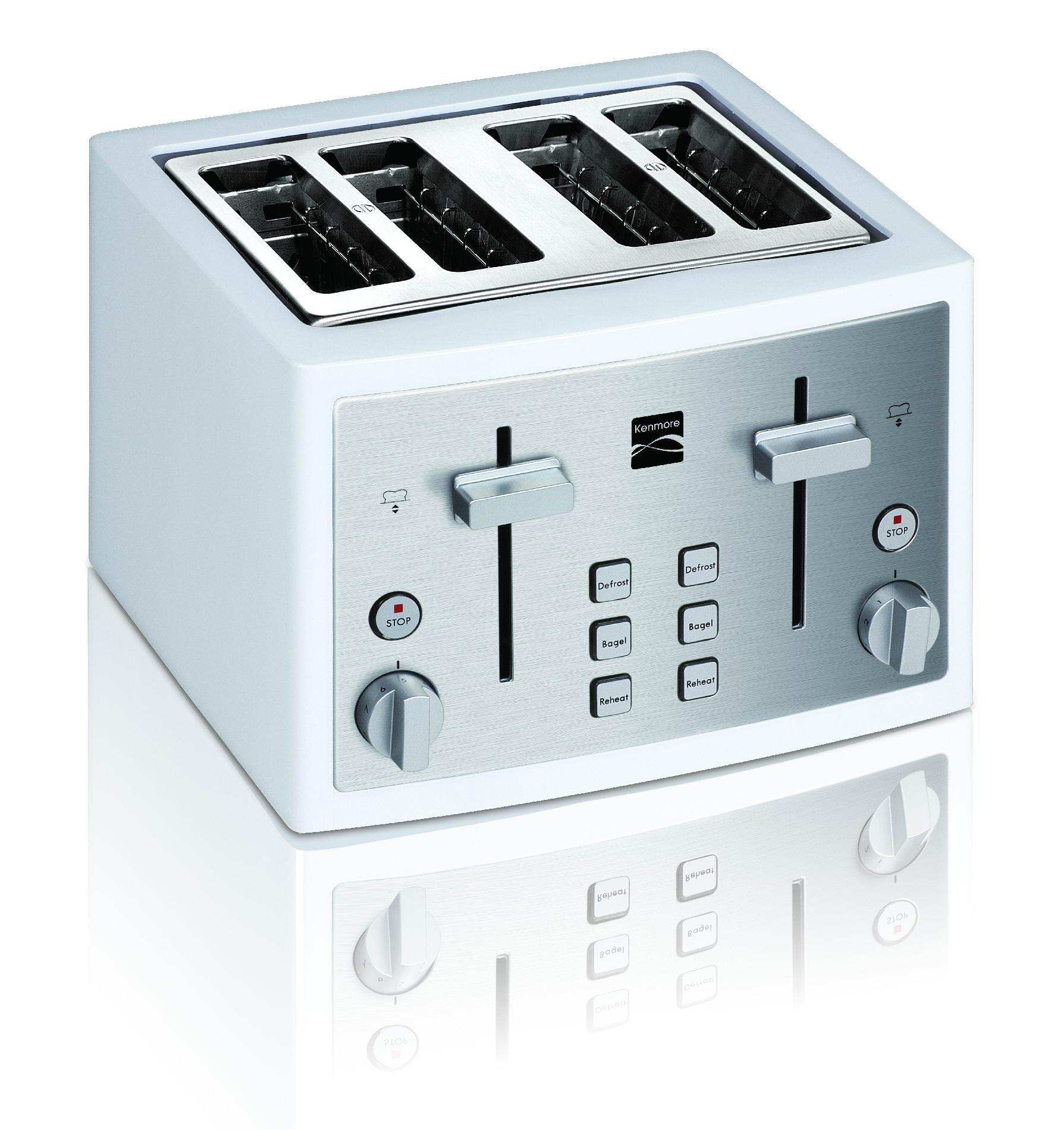 Kenmore 4-Slice Toaster, White