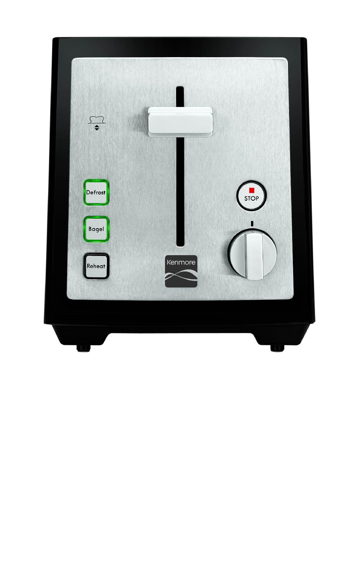 Kenmore 2-Slice Toaster, Black