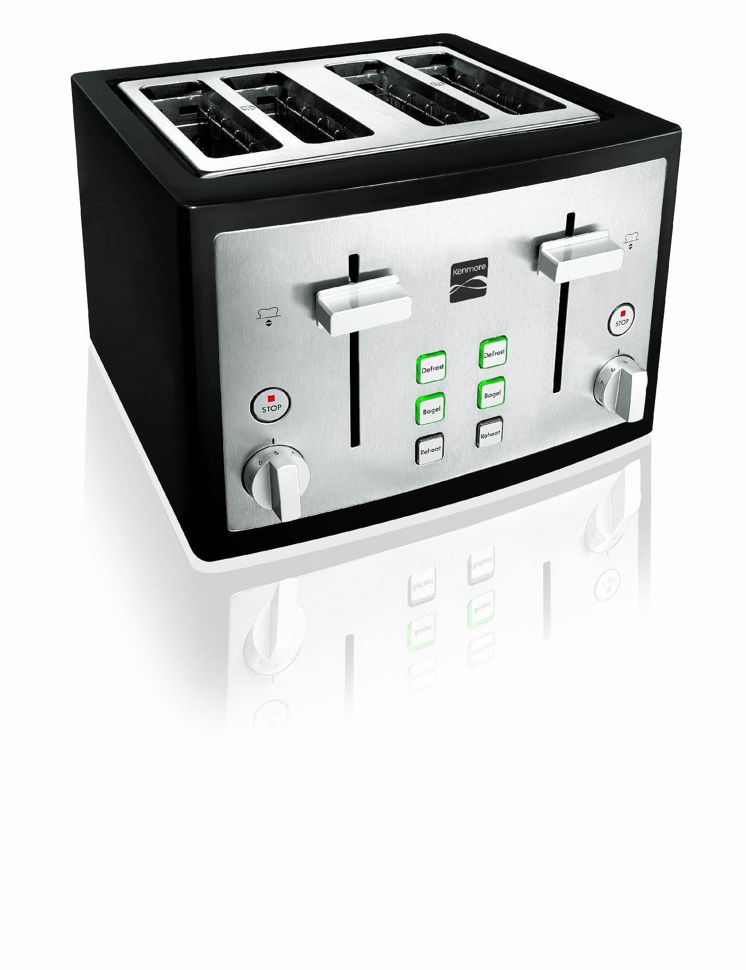 Kenmore 4-Slice Toaster, Black