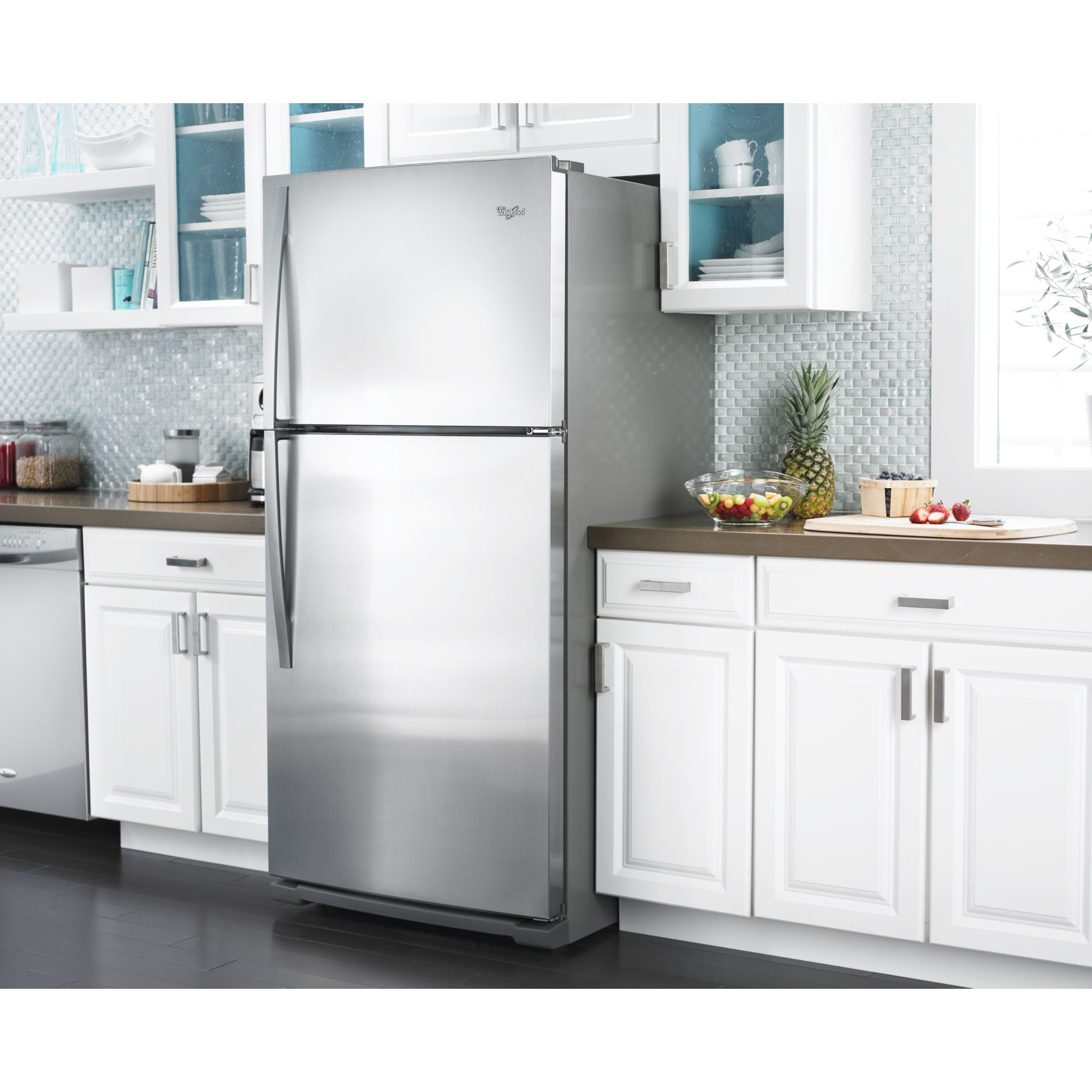 Whirlpool 21.1 cu. ft. Top-freezer Refrigerator w/ CEE Tier 3 Rating - Stainless Steel