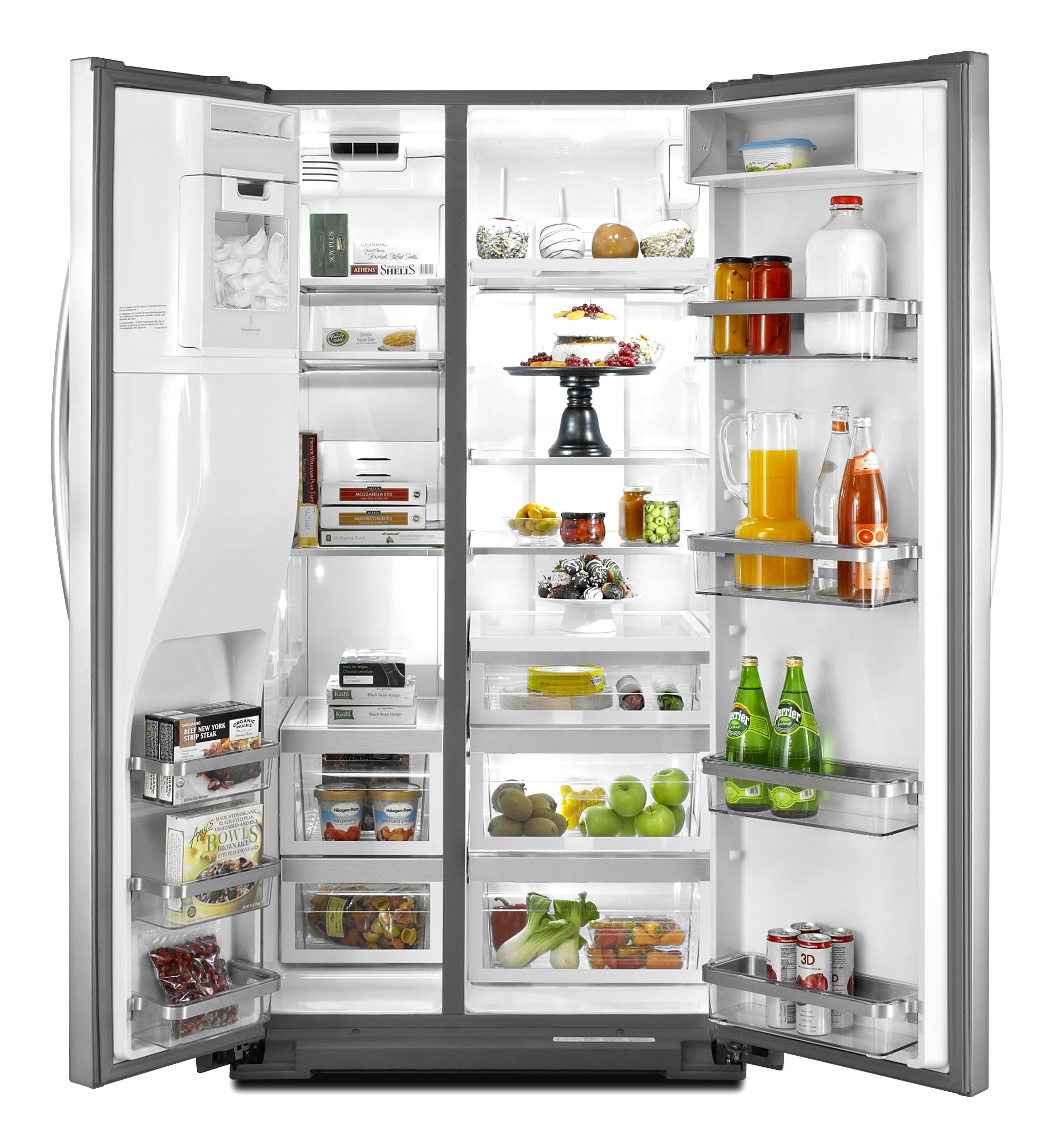 KitchenAid 26.4 cu. ft. Side-by-Side Refrigerator - Monochromatic Stainless Steel
