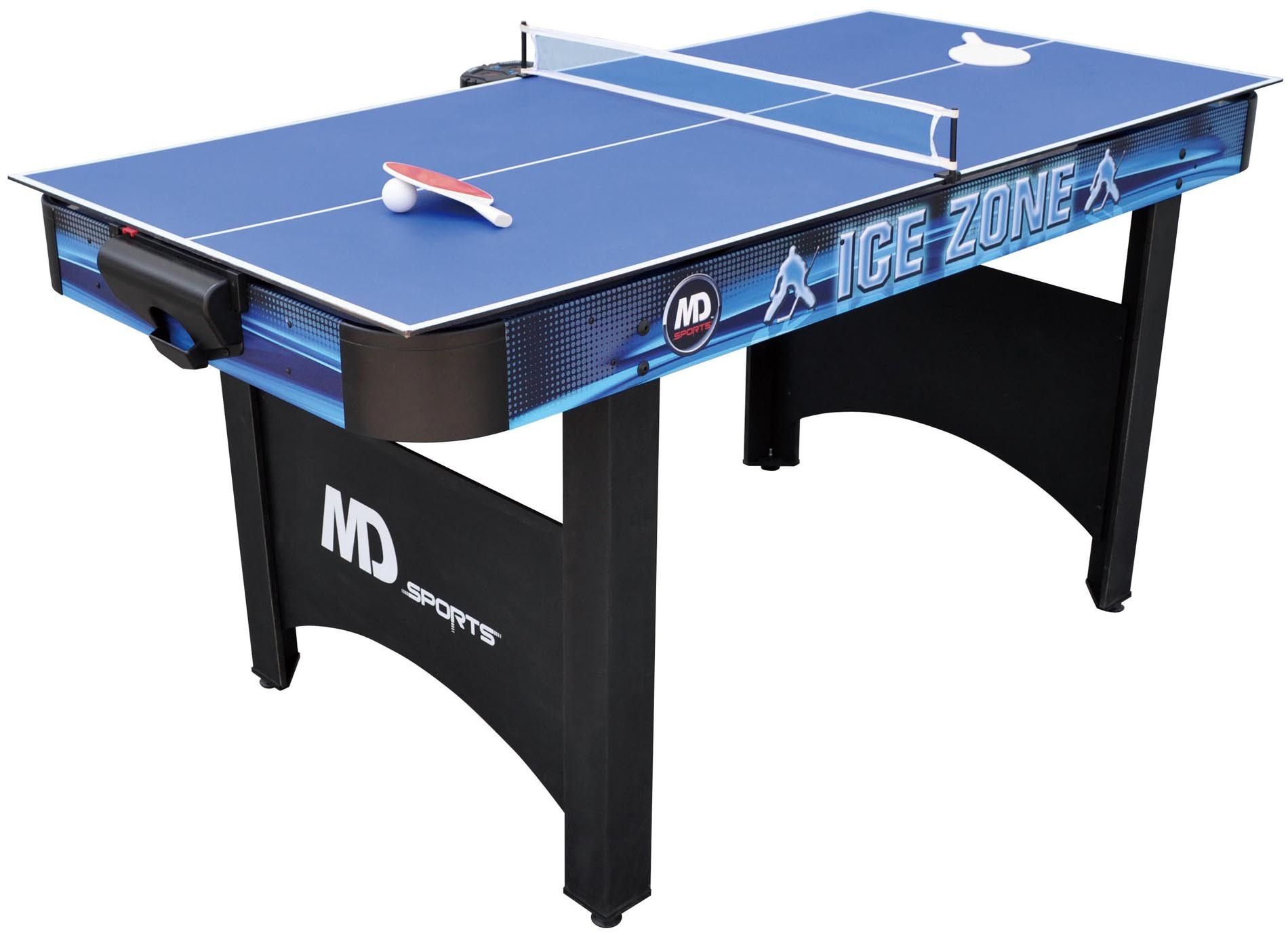 MD Sports 66in Air Powered Hockey Table with Bonus Table Tennis Top