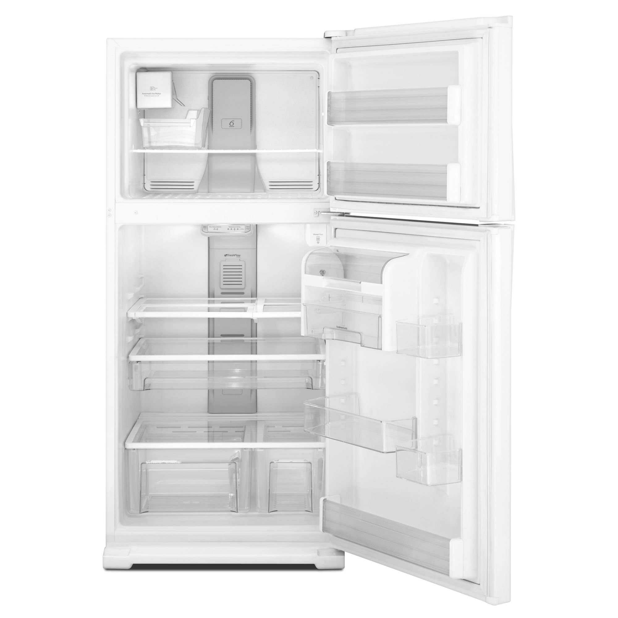 Whirlpool 21.1 cu. ft. Top-Freezer Refrigerator w/ CEE Tier 3 Rating - White