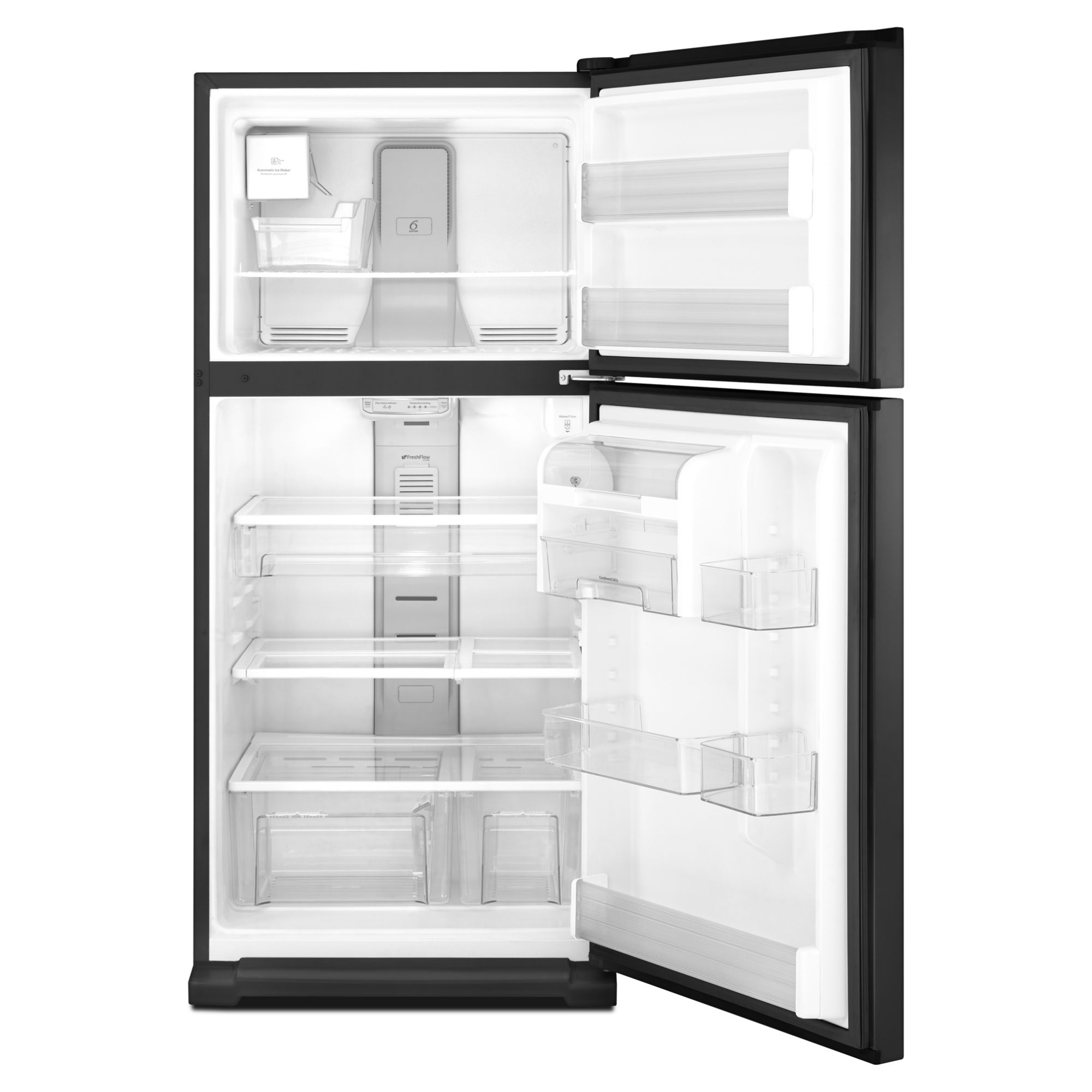 Whirlpool 21.1 cu. ft. Top-Freezer Refrigerator w/ CEE Tier 3 Rating - Black