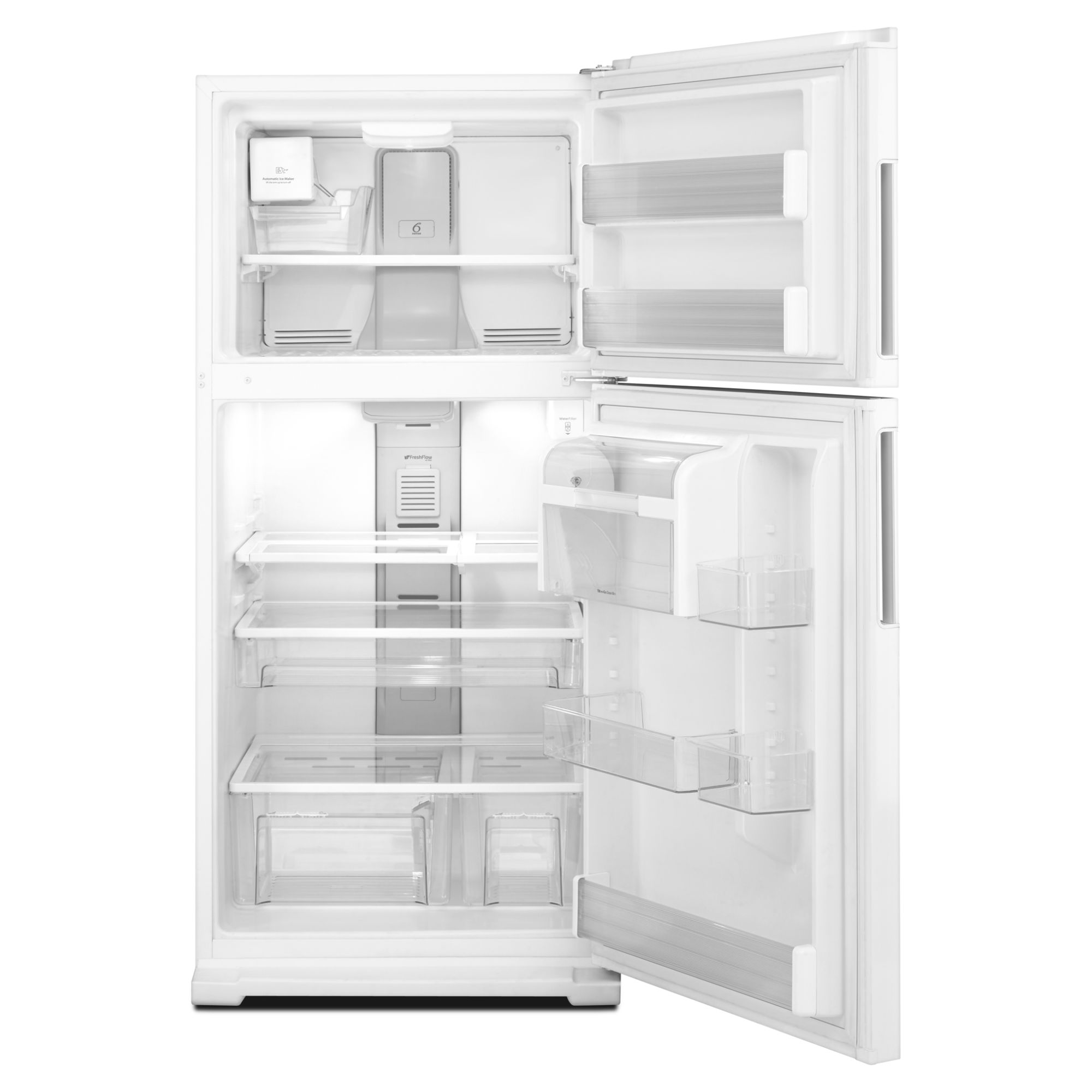 Whirlpool 21.1 cu. ft. Top-Freezer Refrigerator w/ Exterior Water Dispenser - White