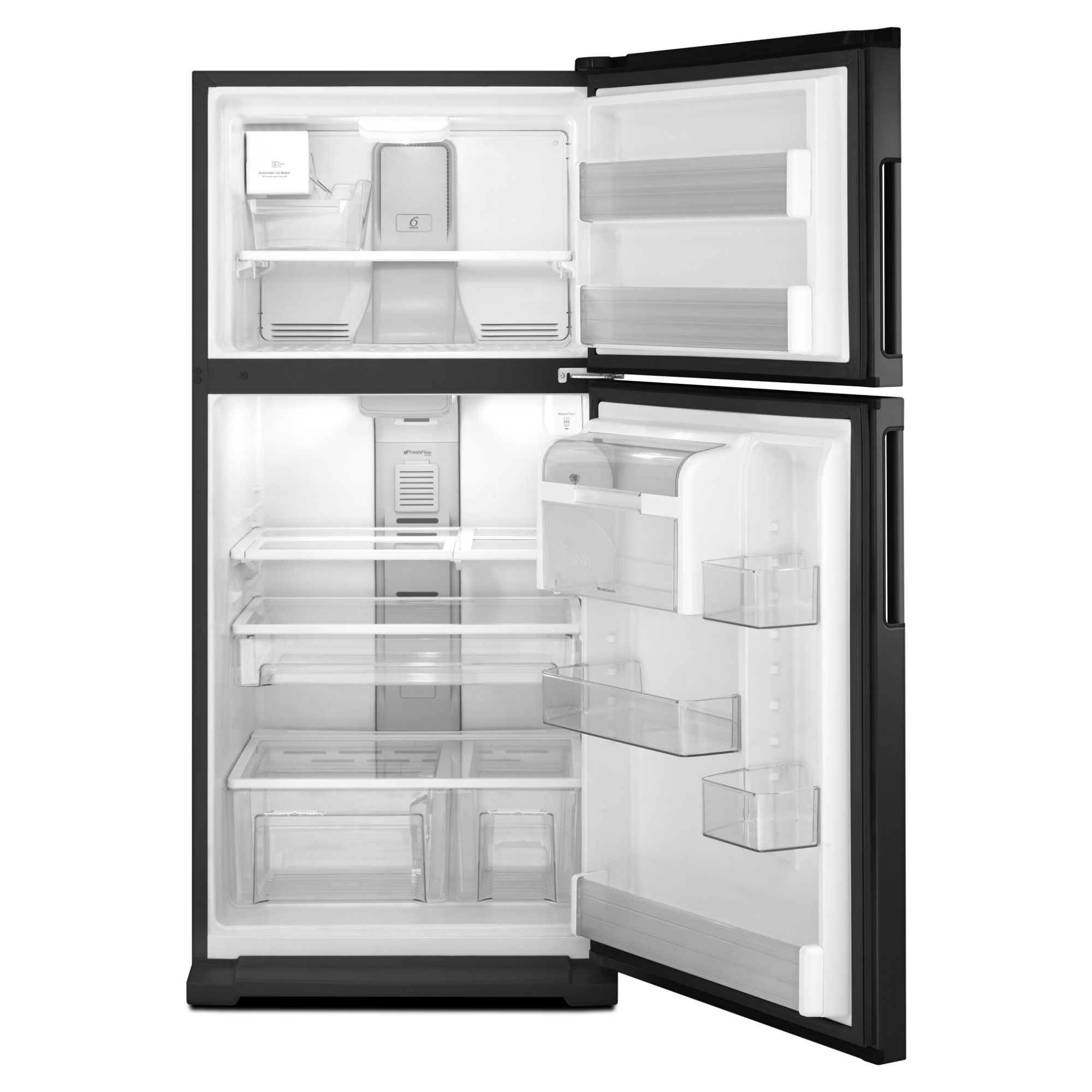 Whirlpool 21.1 cu. ft. Top-Freezer Refrigerator w/ Exterior Water Dispenser - Black