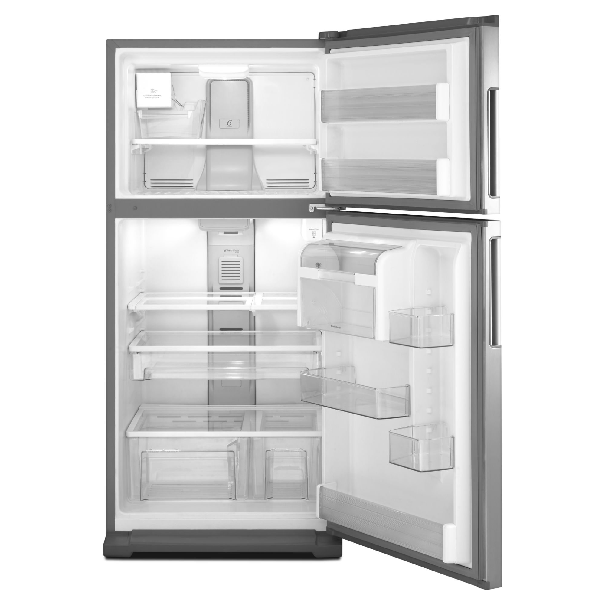 Whirlpool 21.1 cu. ft. Top-Freezer Refrigerator w/ Exterior Water Dispenser - Stainless Steel Look
