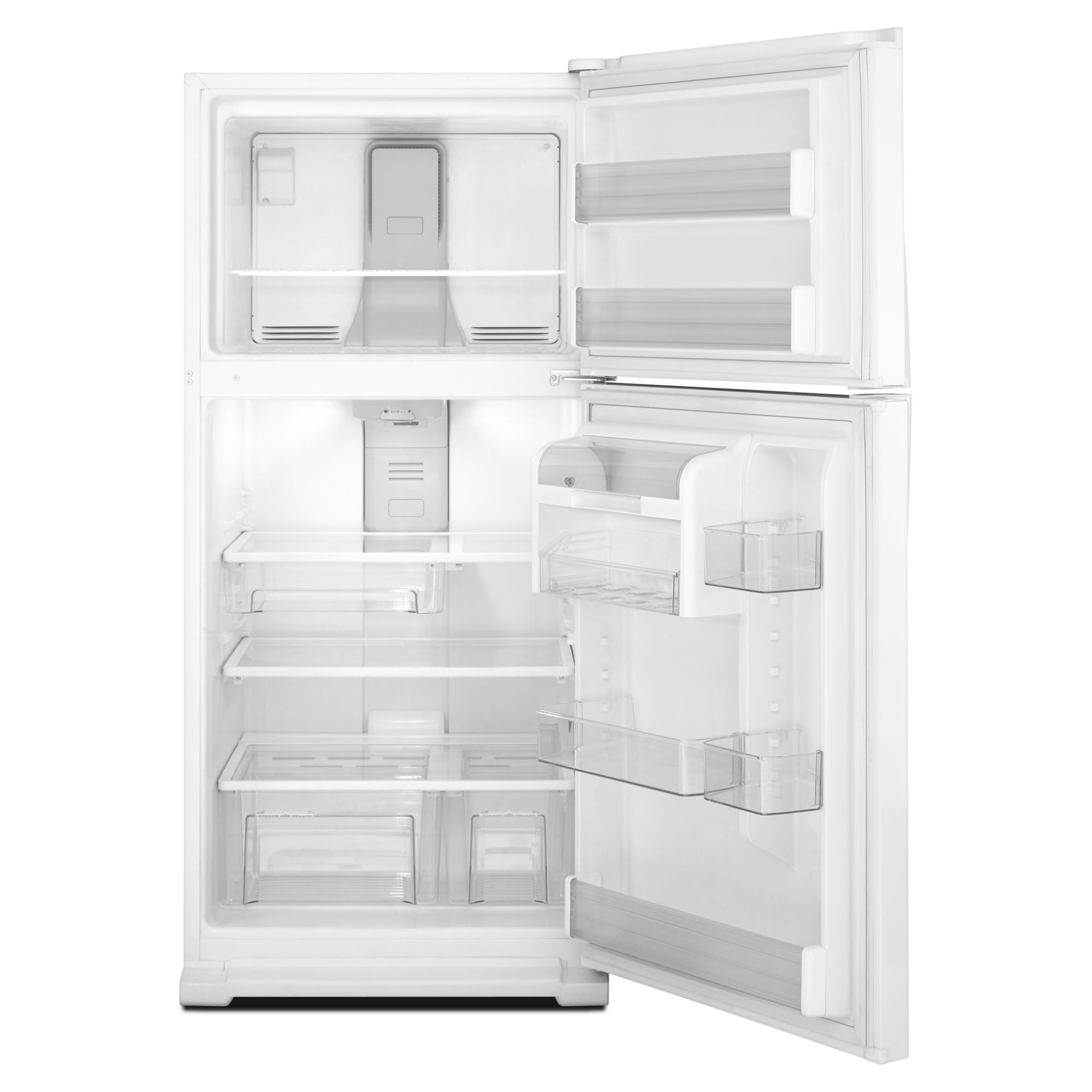 Whirlpool 20.6 cu. ft. Top-Freezer Refrigerator w/ Condiment Caddy - White