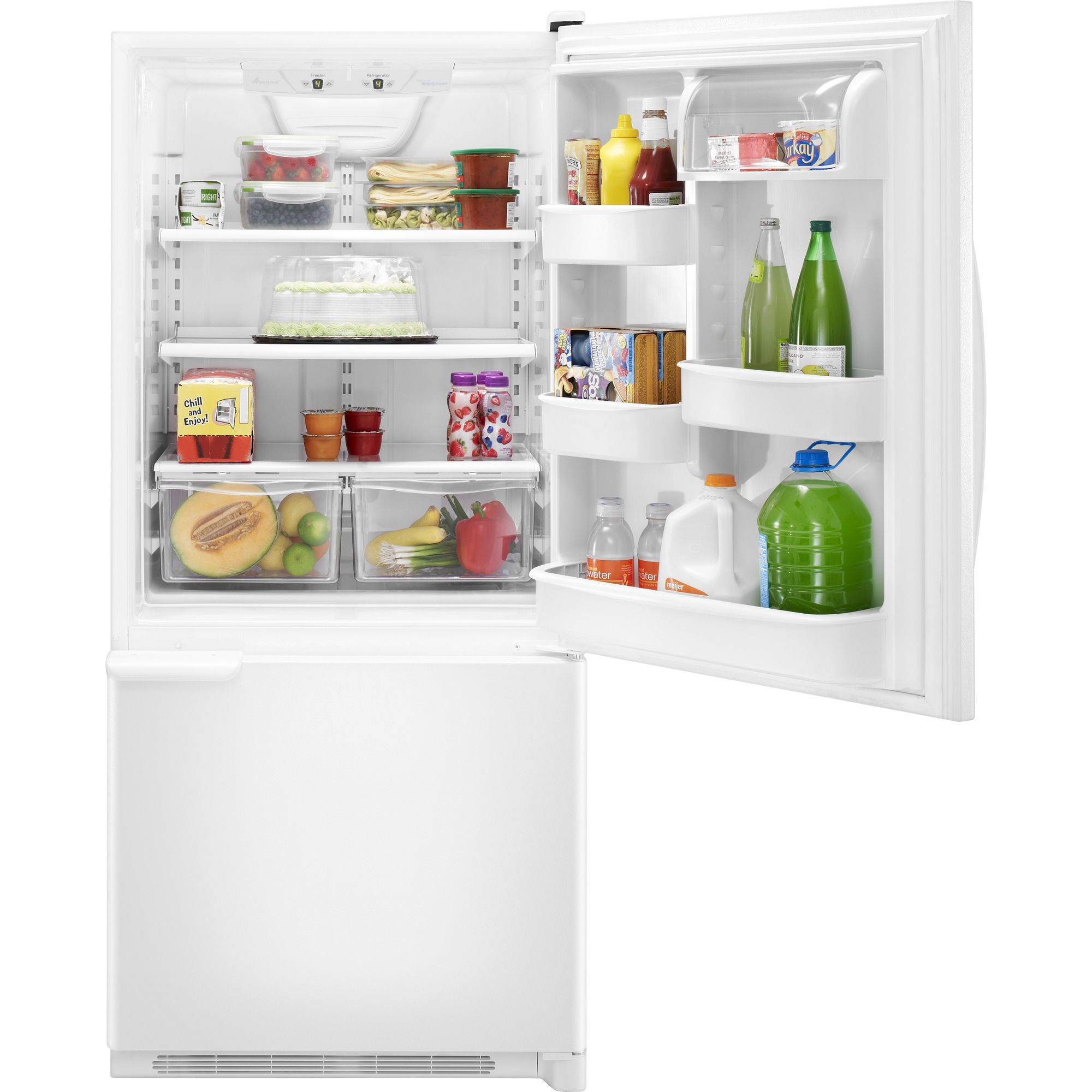 A well-known brand WHIRLPOOL   18.5 cu. ft. Single-Door Bottom-Freezer Refrigerator - White