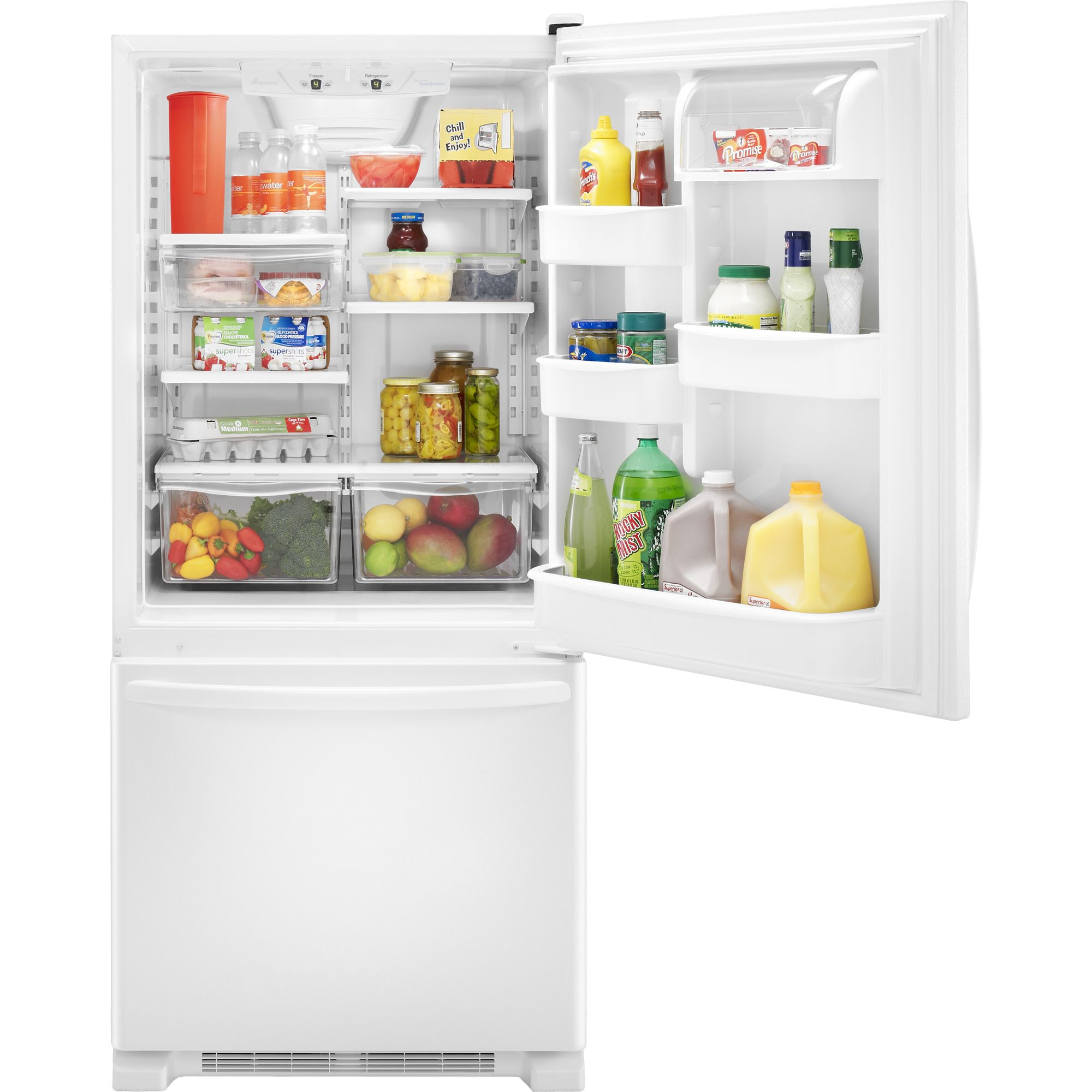 Amana 21.9 cu. ft. Single Door Bottom Freezer Refrigerator - White