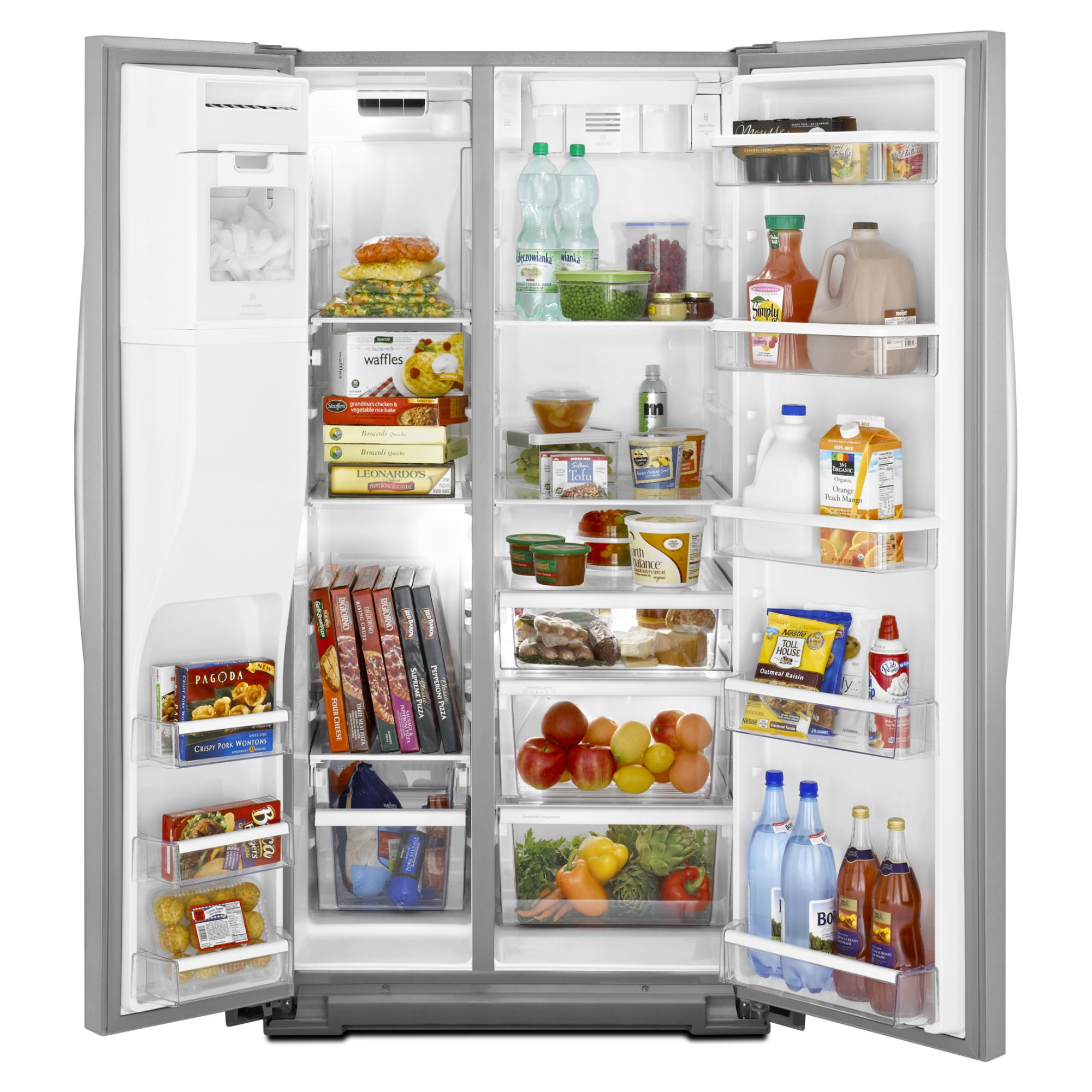 Whirlpool 26.4 cu. ft. Side-by-Side Refrigerator w/ In-Door-Ice® Plus System - Black
