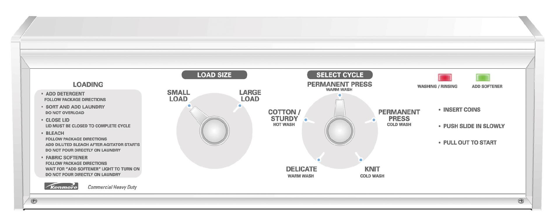 Kenmore 3.1 cu. ft. Coin-Operated Washer