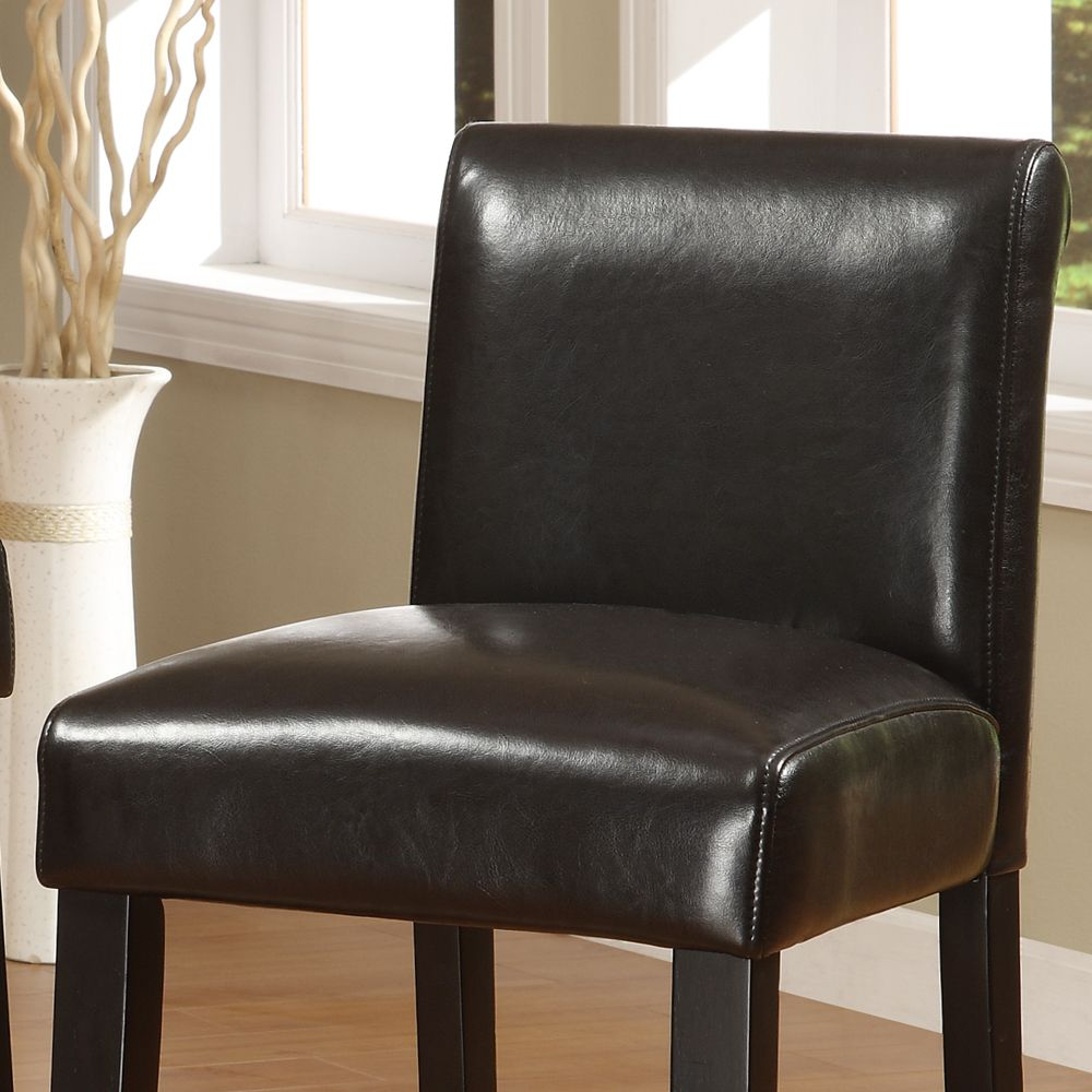 Oxford Creek Faux Leather Brown 29 inch Barstools (set of 2)