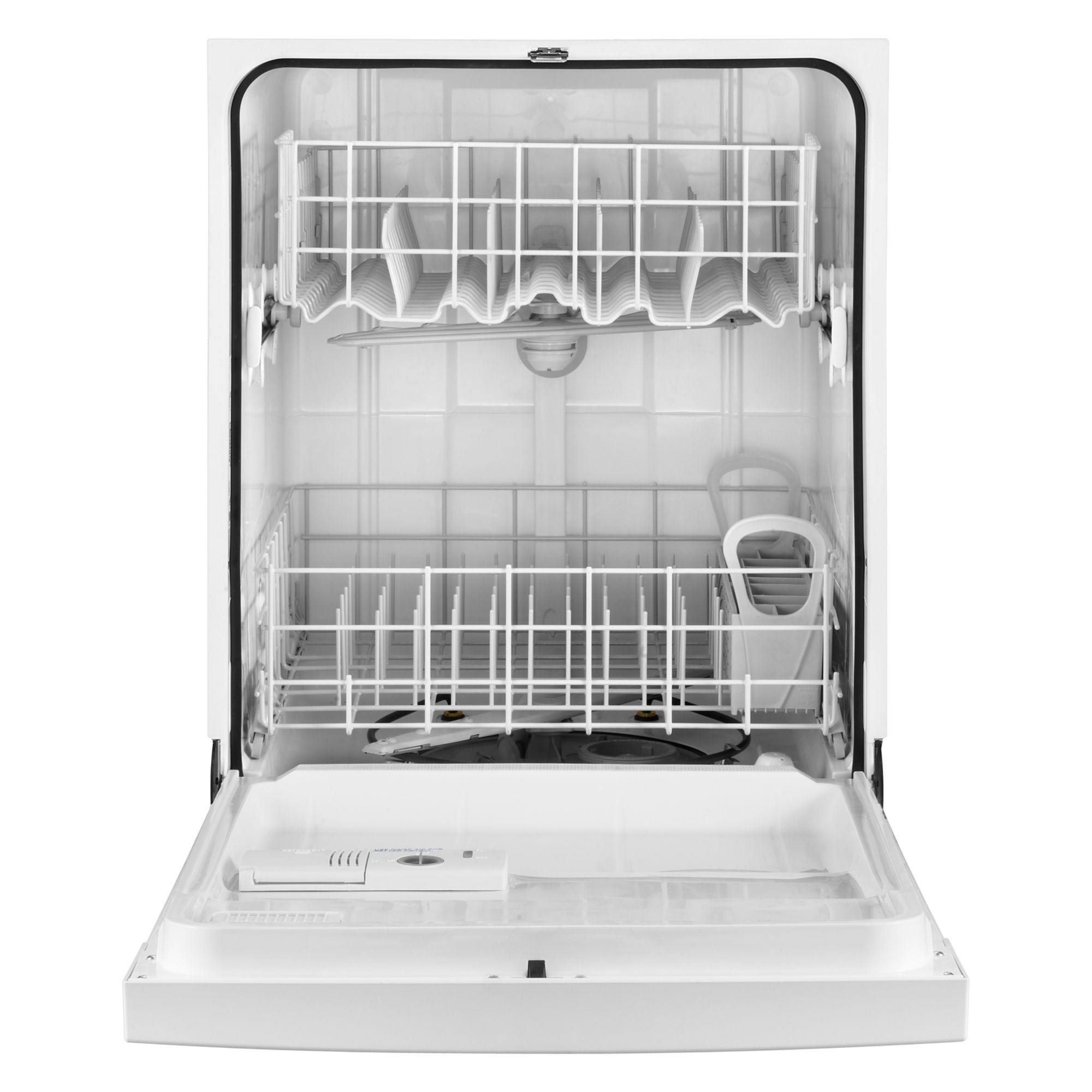 "Whirlpool 24"" Built-In Dishwasher w/ Resource-Efficient Wash System - White"