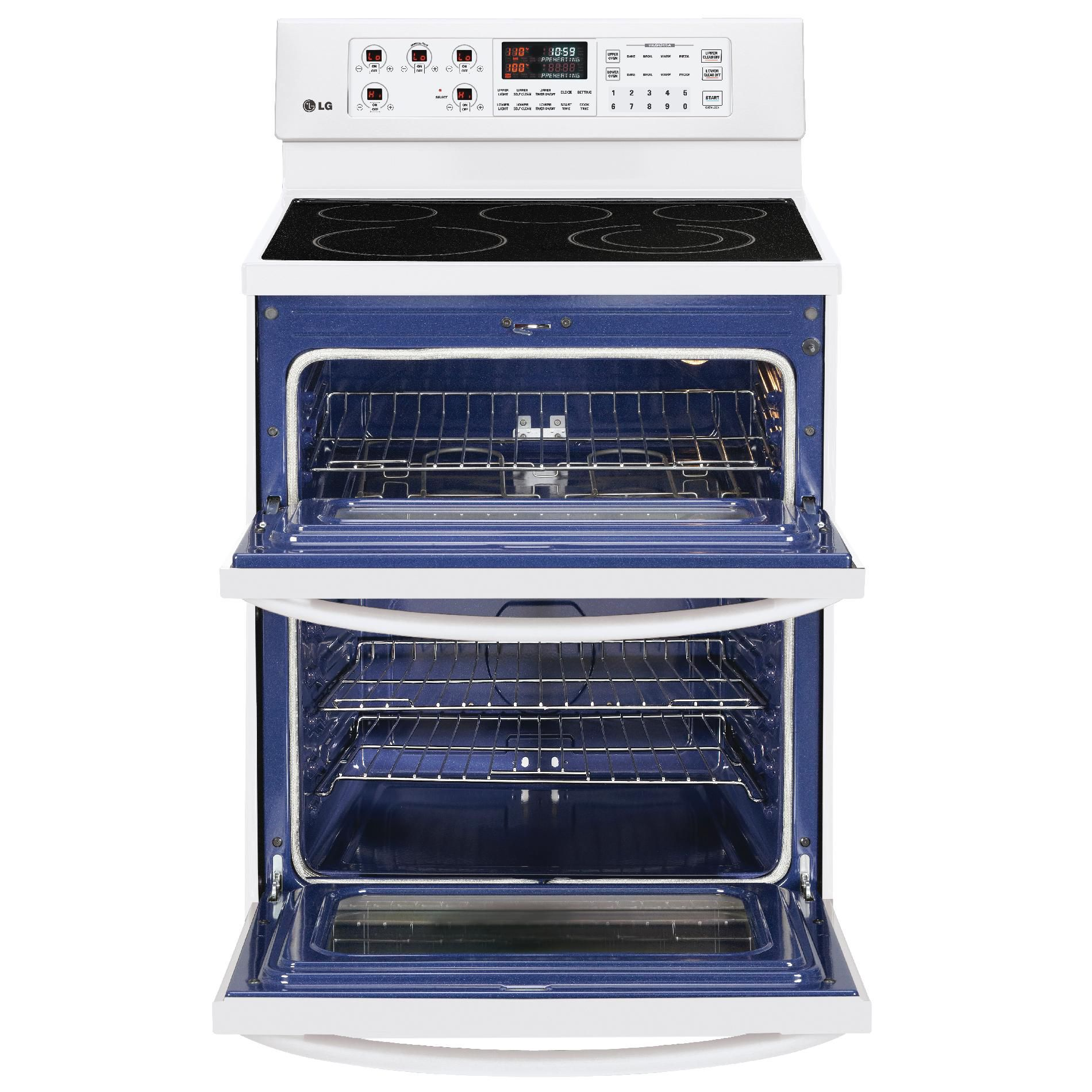 LG 6.6 cu. ft. Double-Oven Electric Range - White