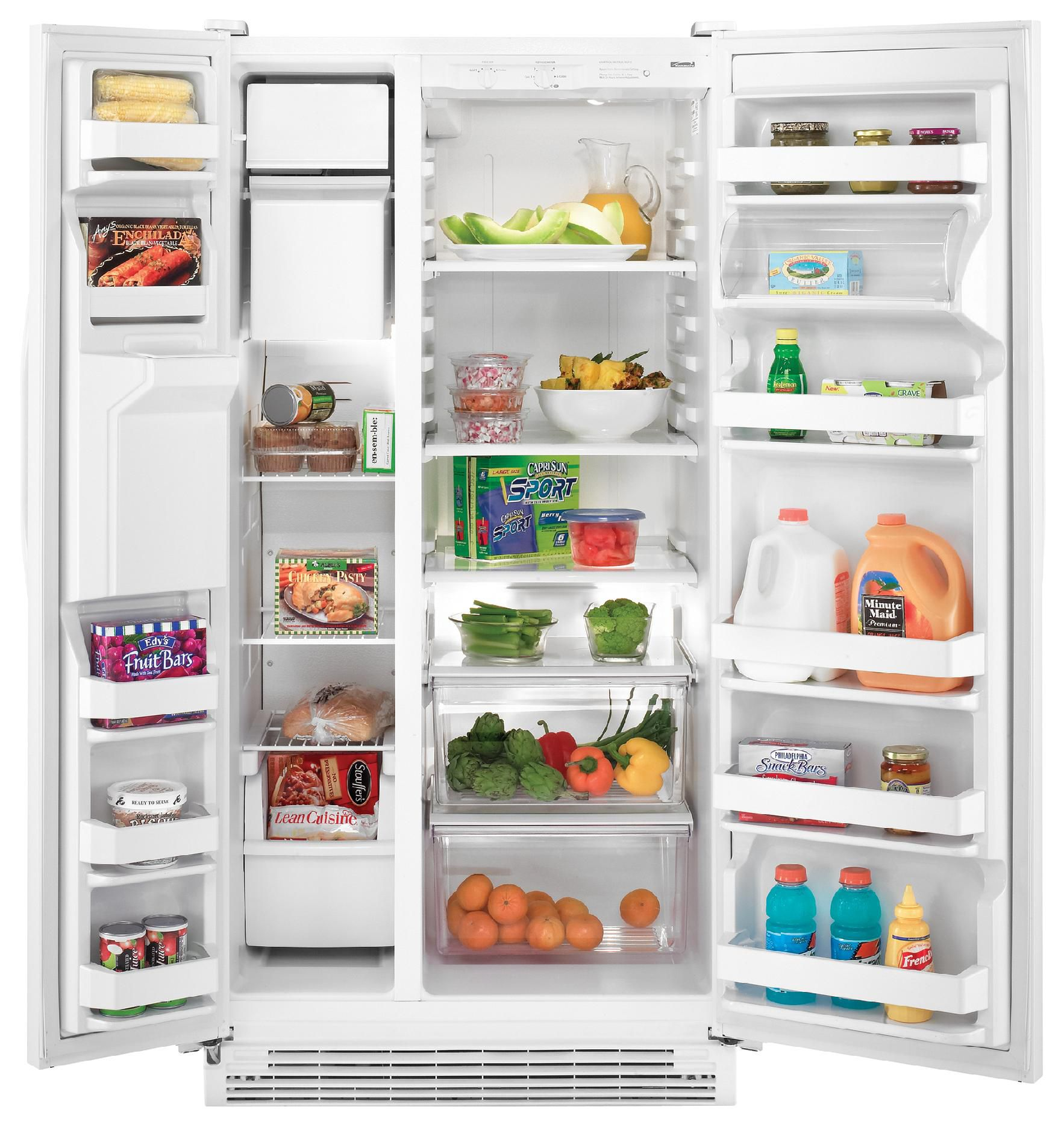 Kenmore 22.0 cu. ft. Side-by-Side Refrigerator - White