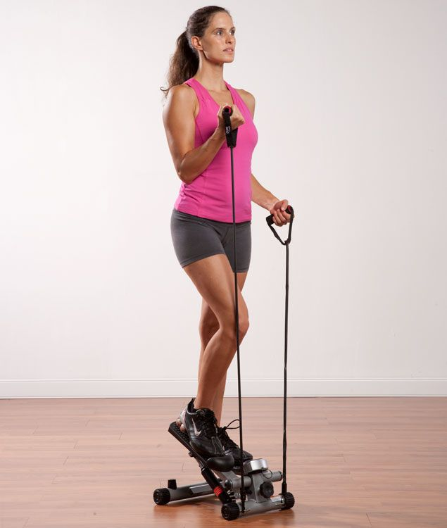 Pure Fitness Mini Stepper with Stretch Cords 8529MS