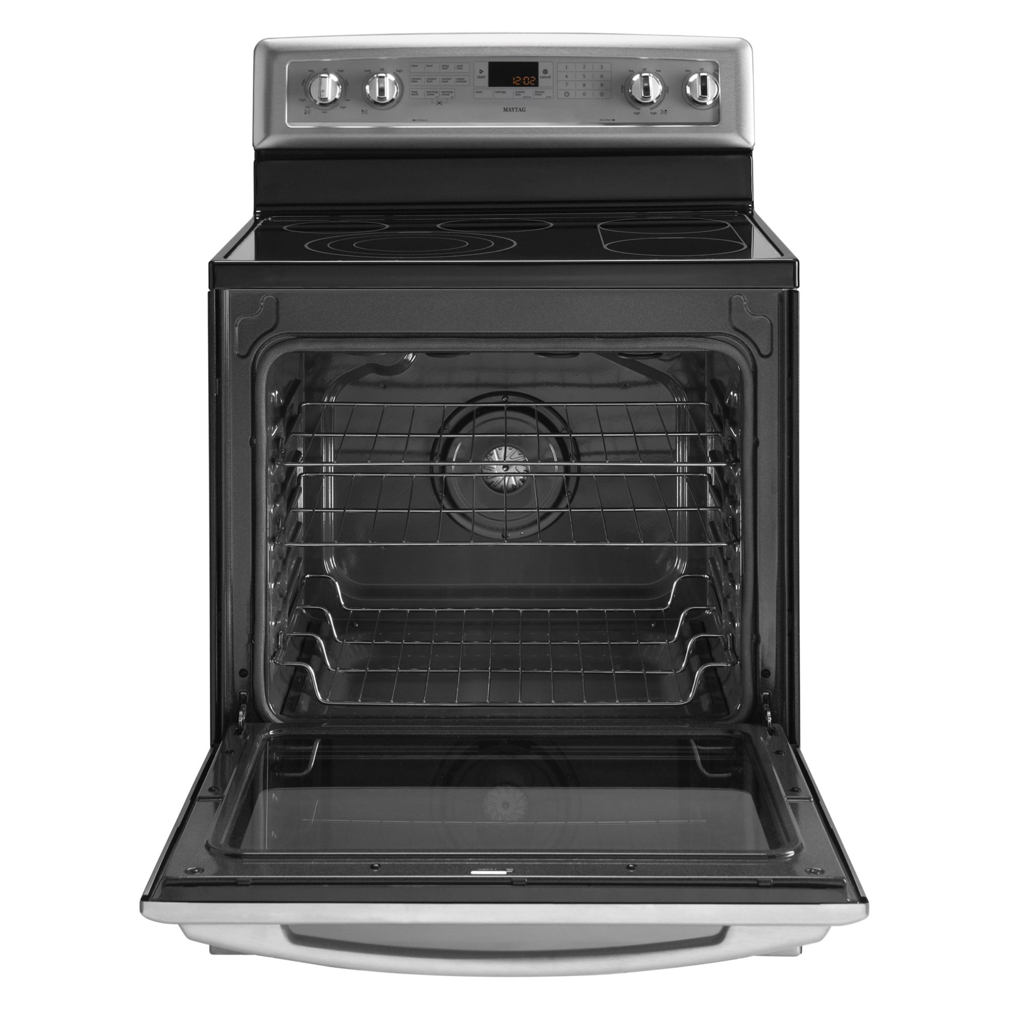 "Maytag 30"" Freestanding Electric Range w/ EvenAir™ True Convection - Stainless Steel"