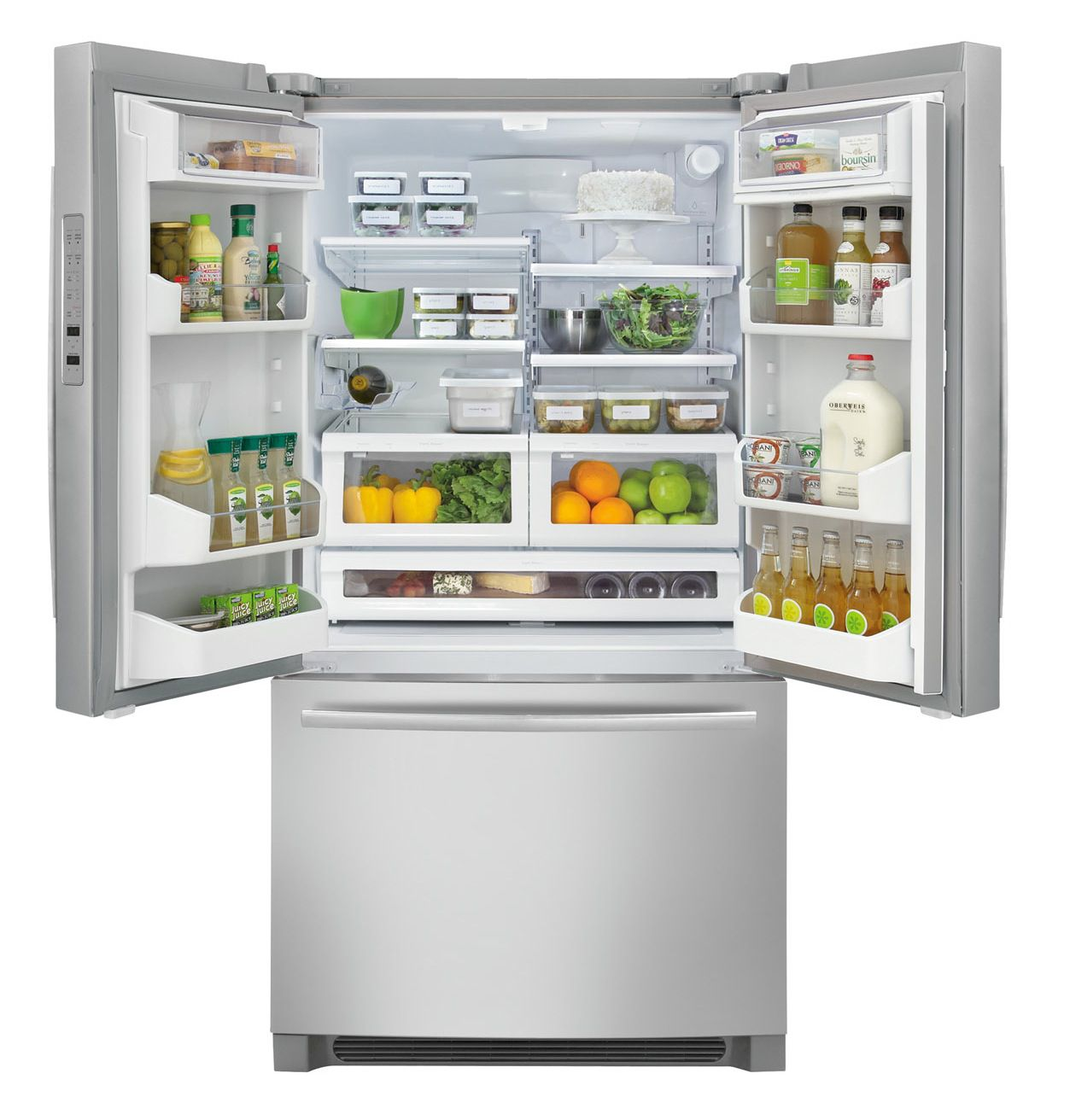 Frigidaire 22.6 cu. ft. Counter-Depth French-Door  Bottom-Freezer Refrigerator - Stainless Steel