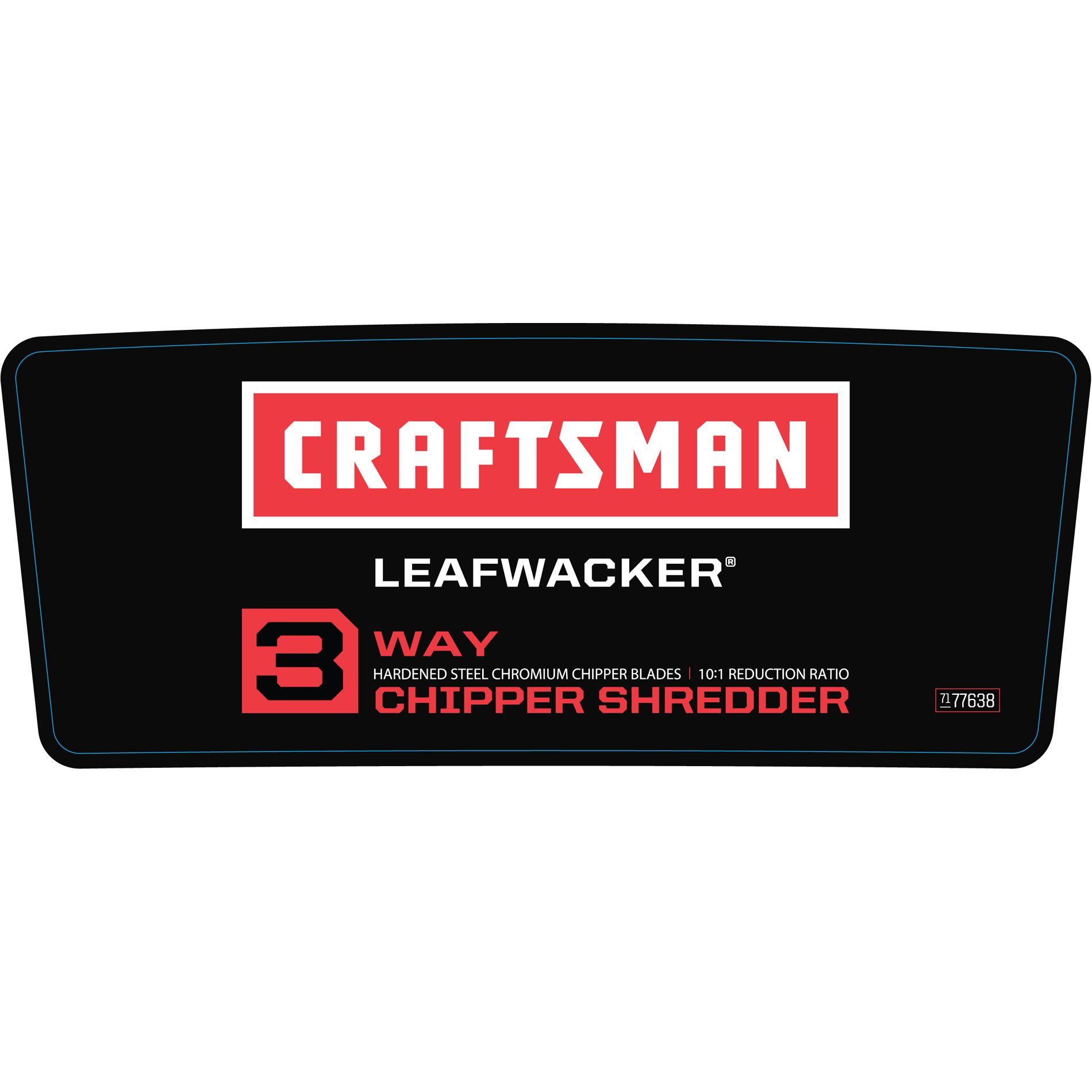 Craftsman 305cc 3-Way Chipper Shredder