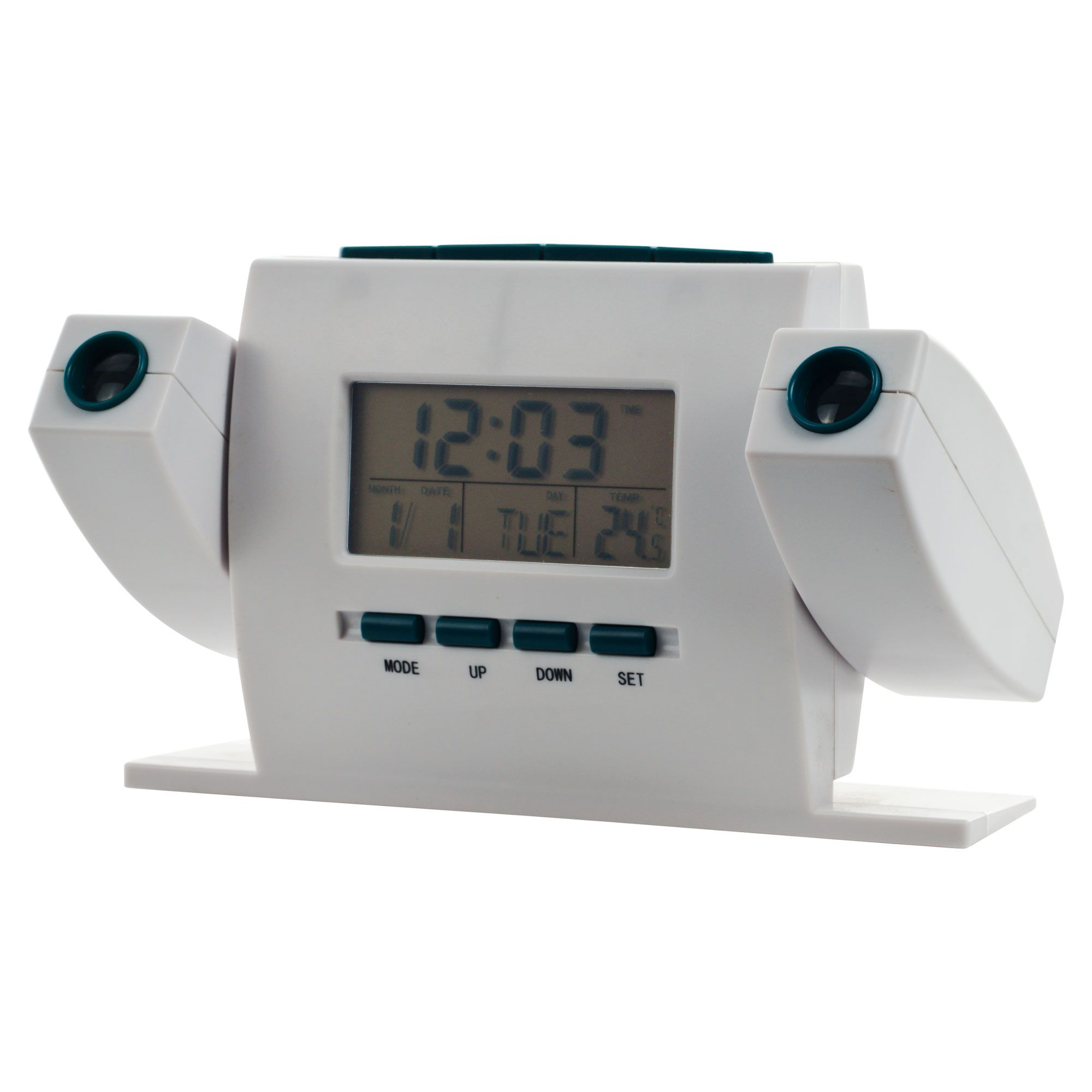Trademark Dual Projection Alarm Clock with FM Radio
