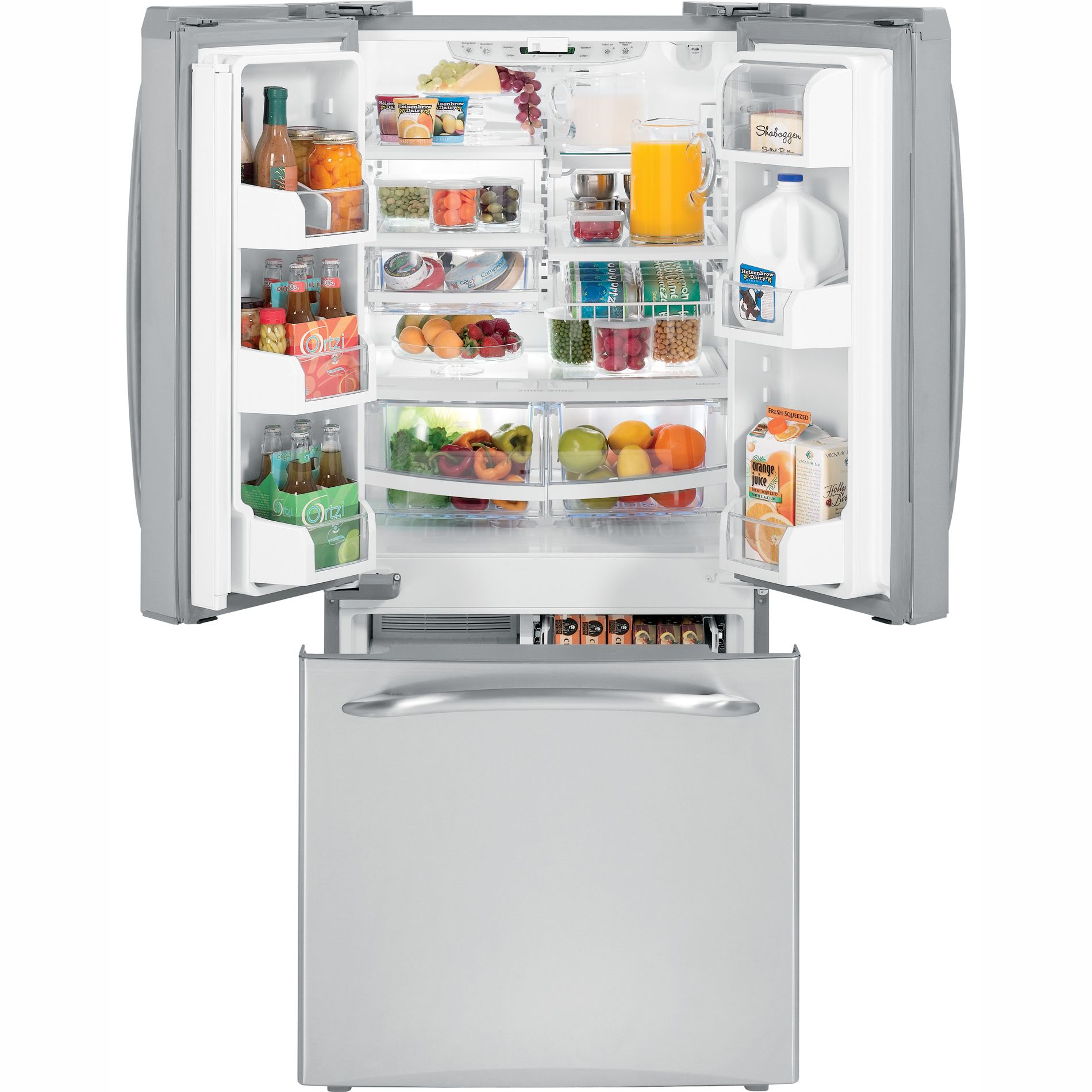 GE 19.5 cu. ft. French Door Bottom-Freezer Refrigerator