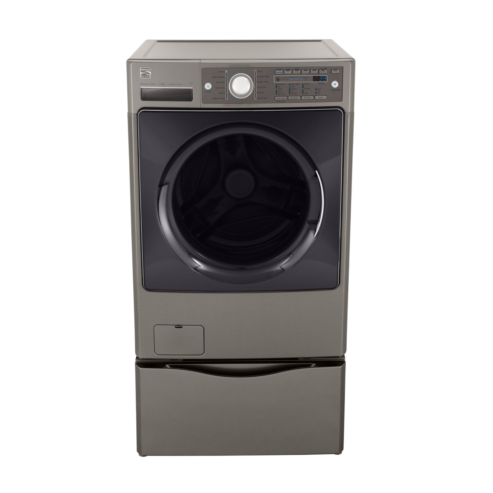 Kenmore Elite 4.0 cu. ft. Steam Front-Load Washer - Metallic Gray