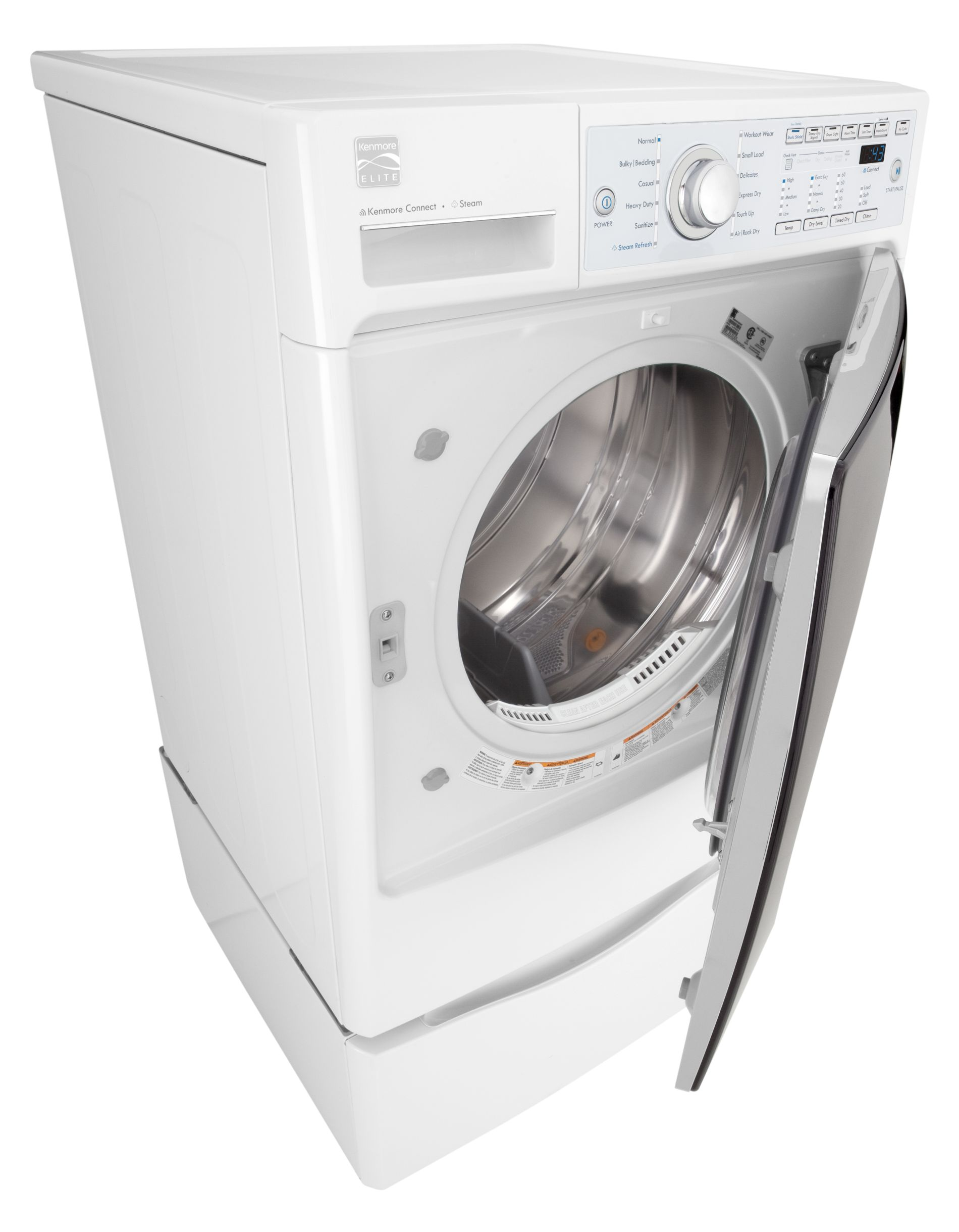 Kenmore Elite 7.3 cu. ft. Gas Steam Dryer - White