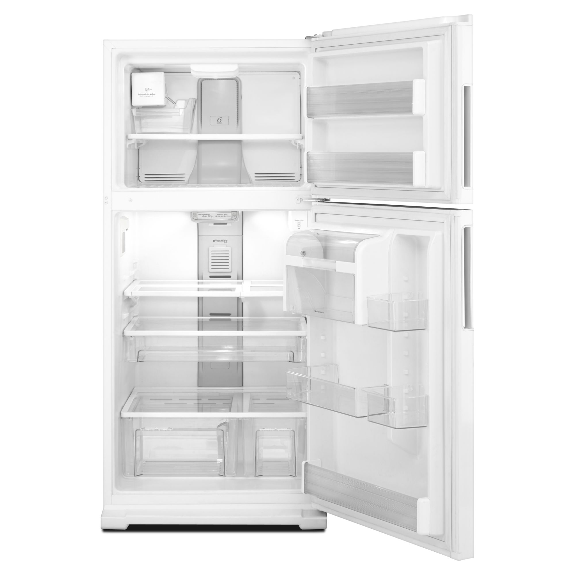 Whirlpool 19.0 cu. ft. Top-Freezer Refrigerator w/ Interior Water Dispenser - White