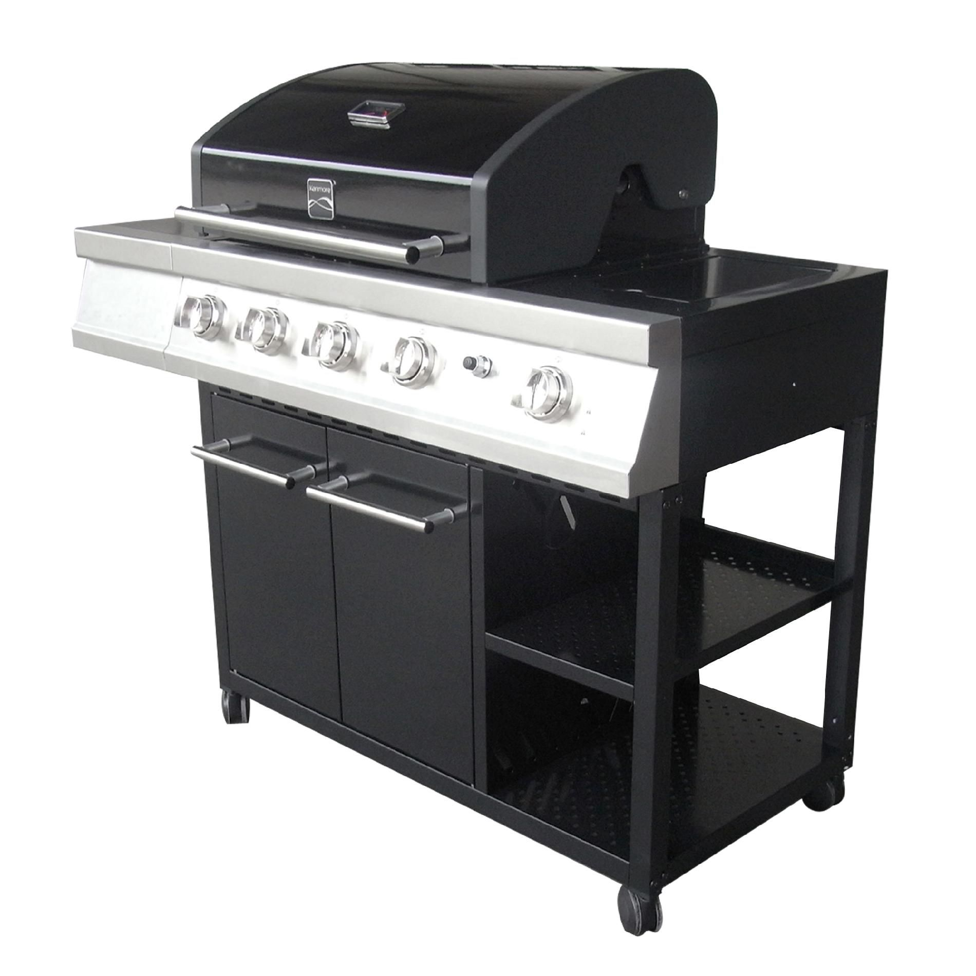 Kenmore 4-Burner Gas Grill with Open Storage