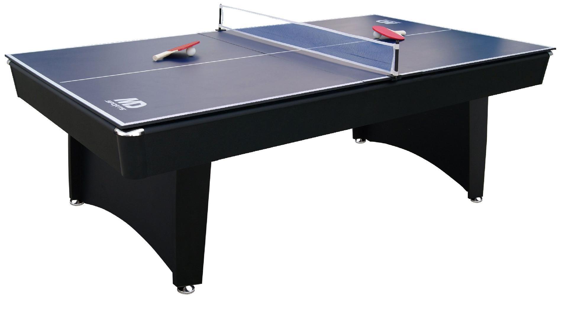 MD Sports 7ft Brookfield Billiard Table w/ BONUS Table Tennis Top