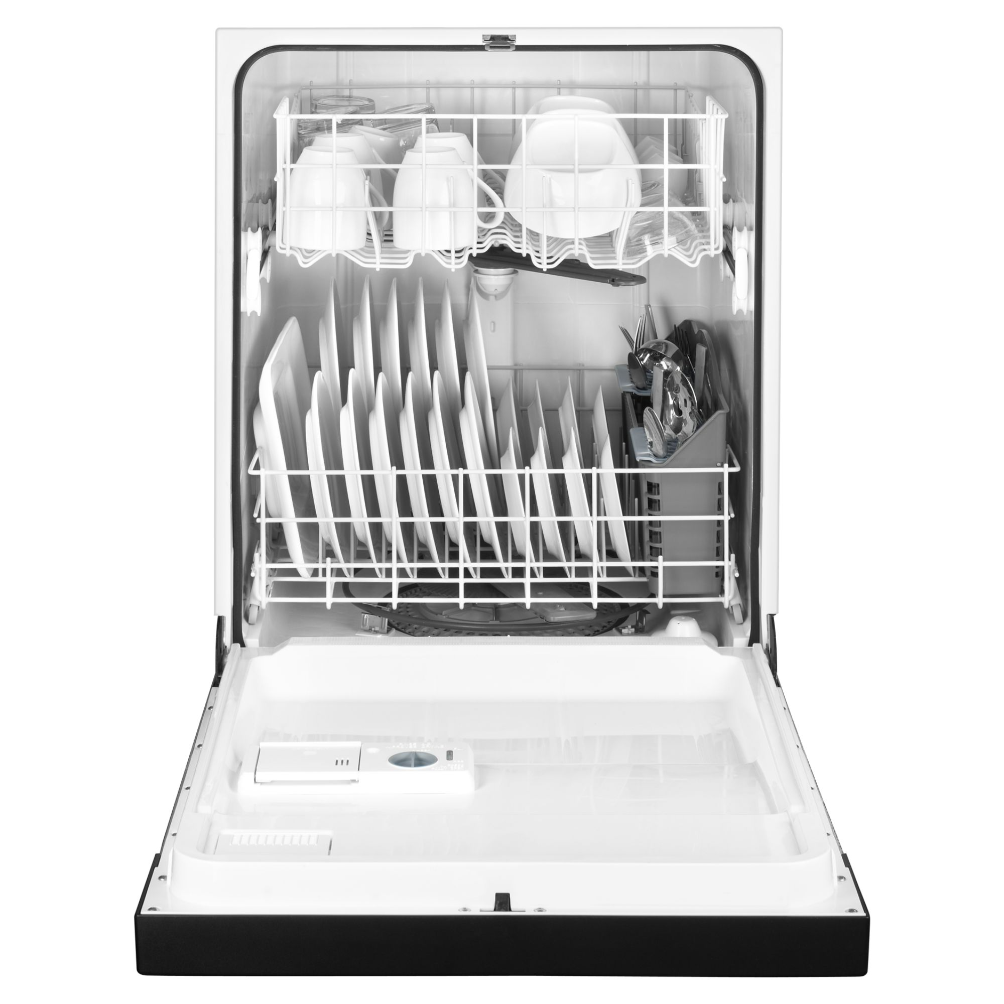 "Maytag 24"" Jetclean® Plus Dishwasher w/ High Temperature Wash Option - Black"