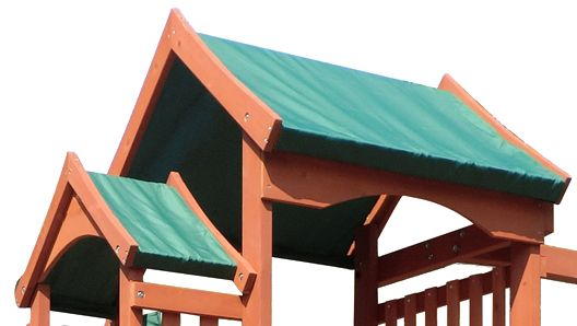 New Timber Play II With Balcony Swing Set