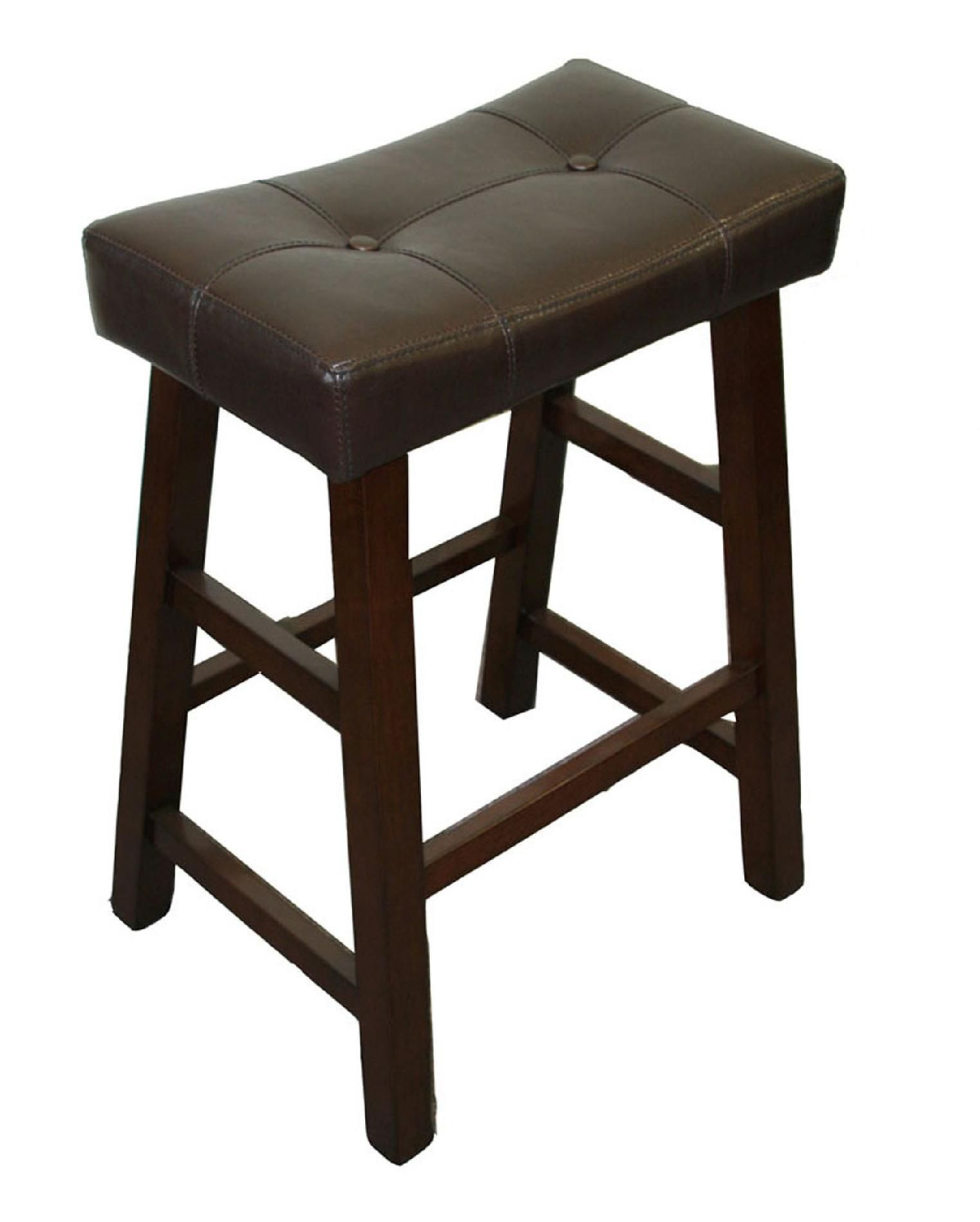 5pc Saddle Pub Set with Tufted Seats