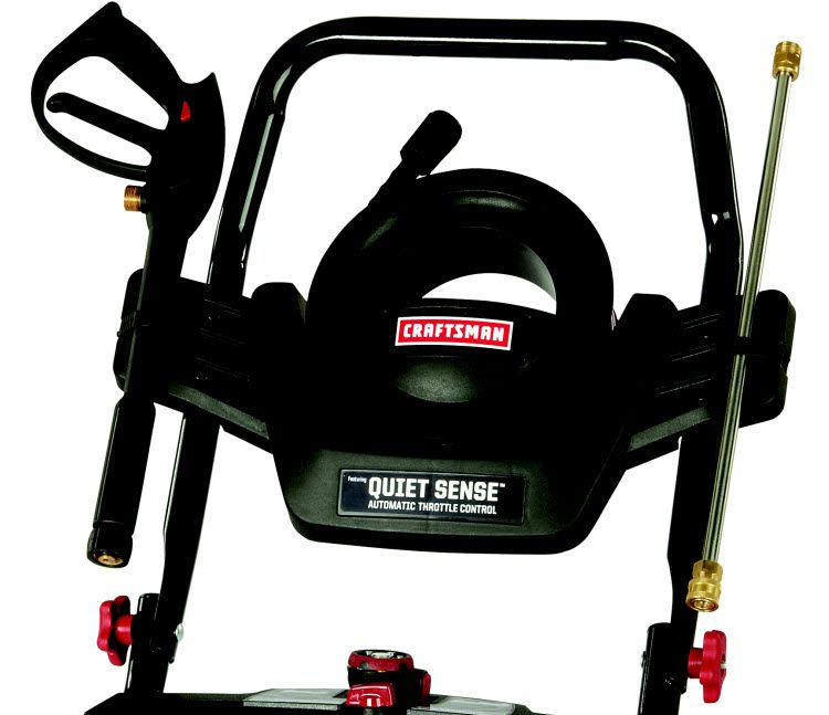 Craftsman Pressure Washer 3000 PSI, 2.7 GPM Briggs & Stratton Featuring Quiet Sense - Automatic Throttle Control - 50 State