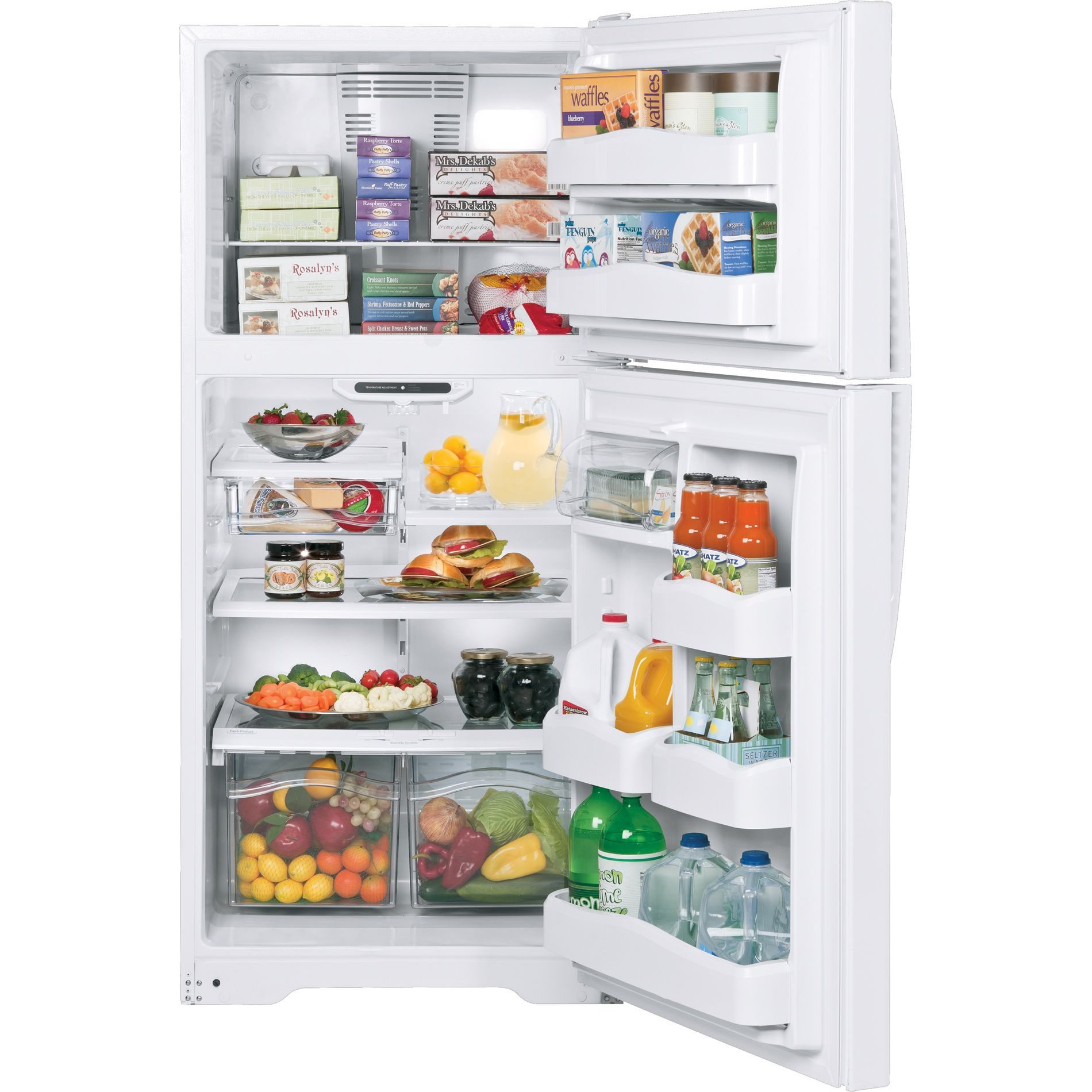 GE 20.0 cu. ft. Top Freezer Refrigerator - White