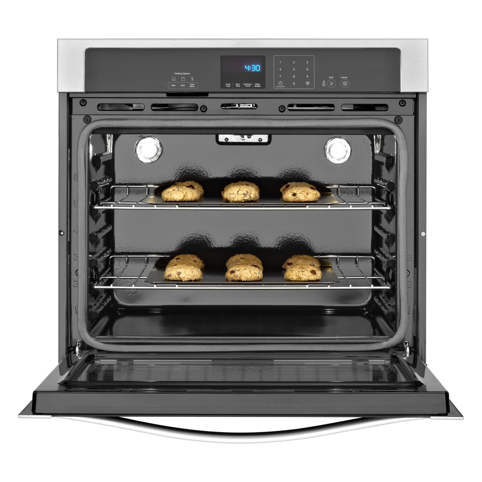 """Whirlpool 30"""" Electric Wall Oven w/ SteamClean Option - Stainless Steel"""